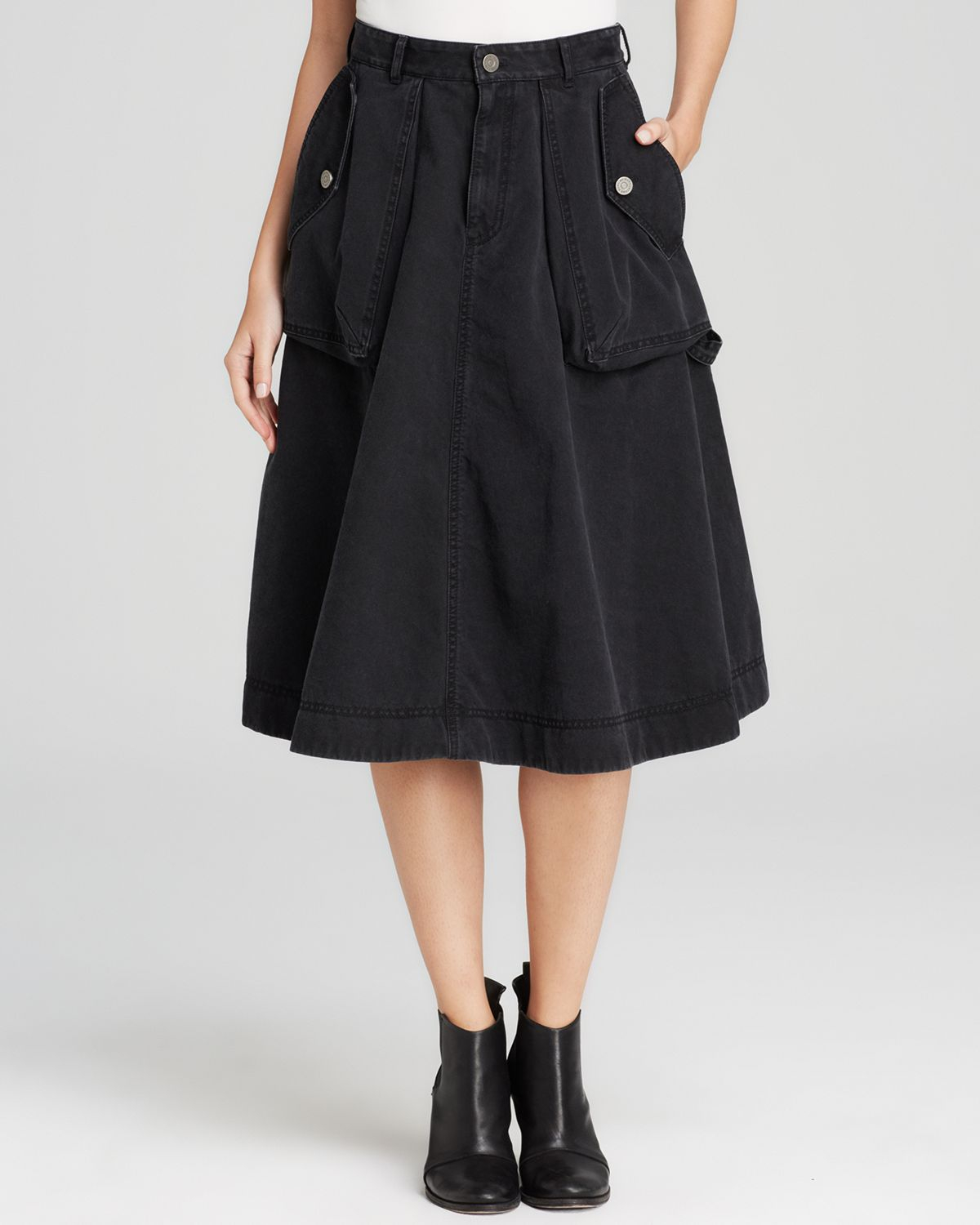 Black A Line Denim Skirt 2017 | Dress Ala - Part 543