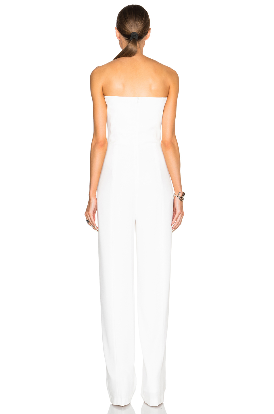 d41dbeefb01c Lyst - Galvan London Strapless Jumpsuit in White