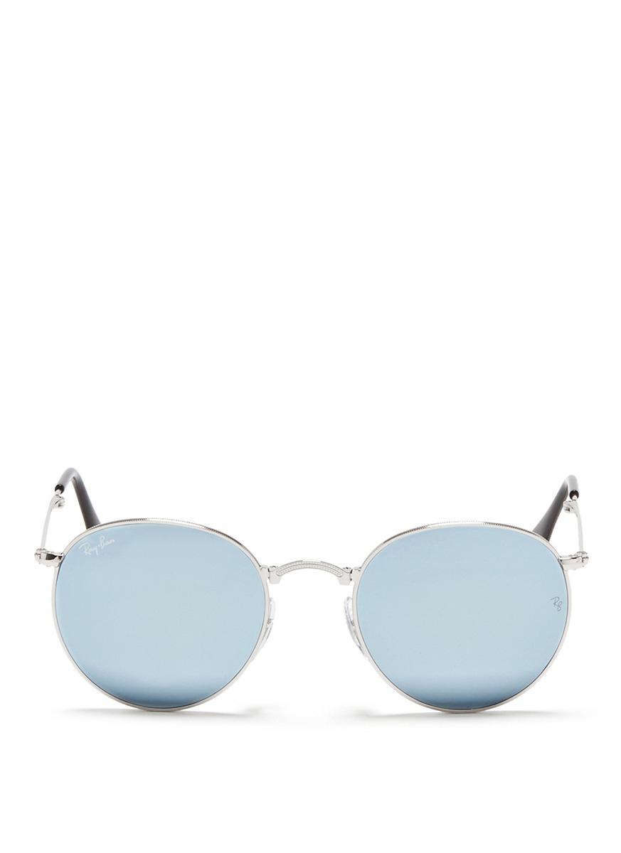 080b10434c Ray-ban   39 round Folding Flash  39  Mirror Sunglasses in