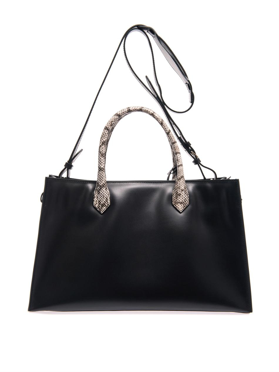Lyst - Balenciaga Blue City Croc-embossed Leather Tote Bag