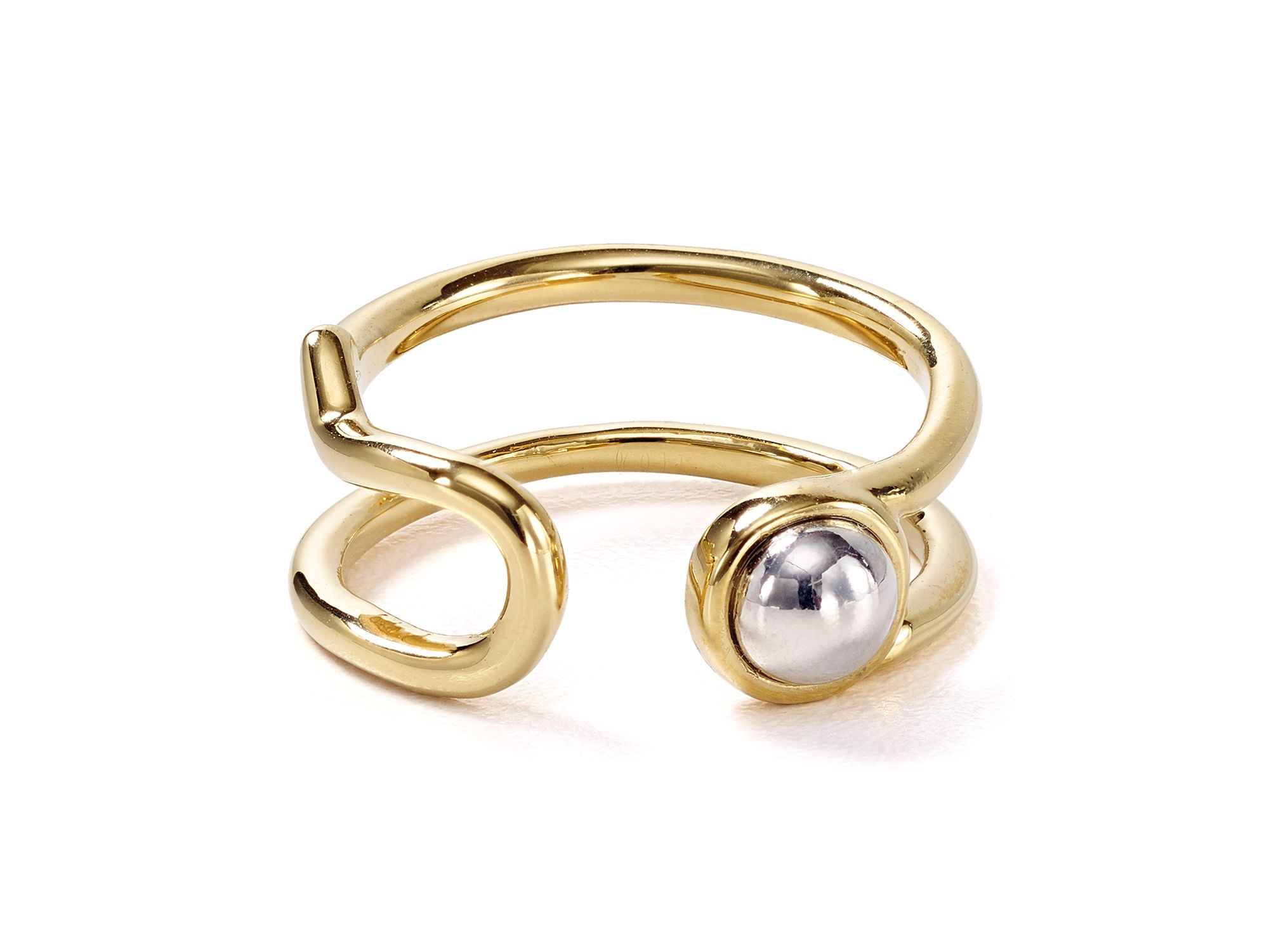 dbb00123f Marc By Marc Jacobs Safety Pin Ring in Metallic - Lyst