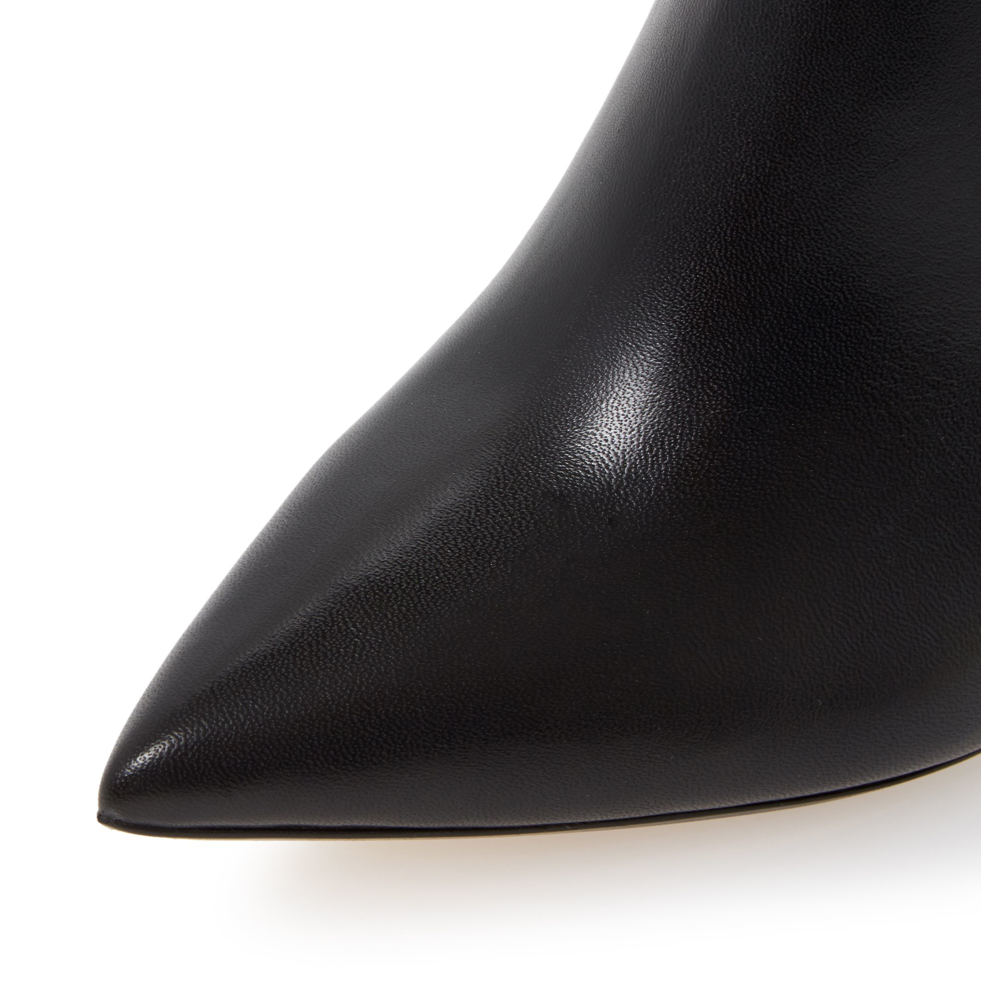Dune Ona Pointed Toe Heeled Ankle Boots in Black