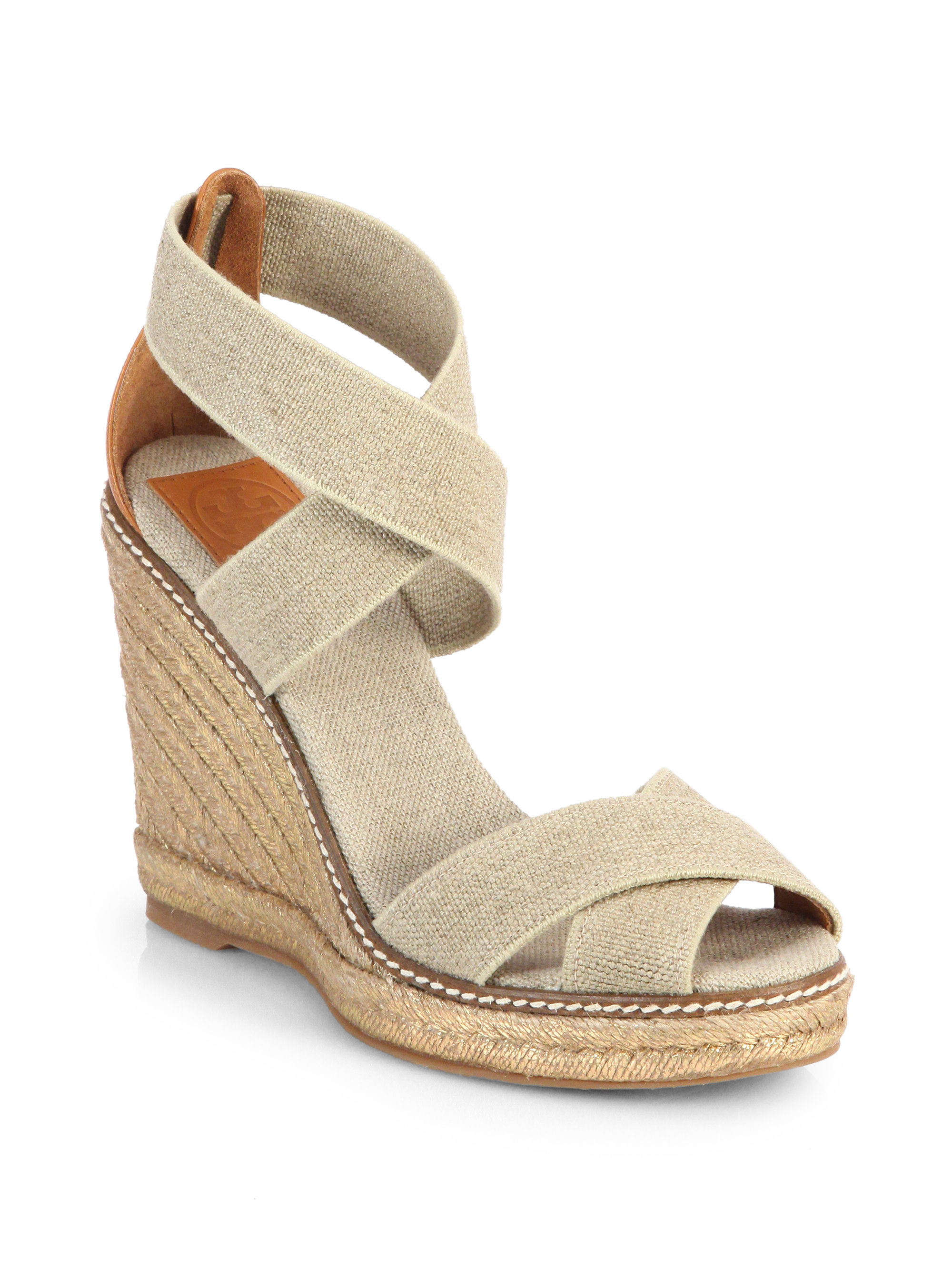 a7a46fce520 ... Lyst - Tory Burch Adonis Crisscross Espadrille Wedge Sandals in Natural  new specials 90fbb 14a6e ...