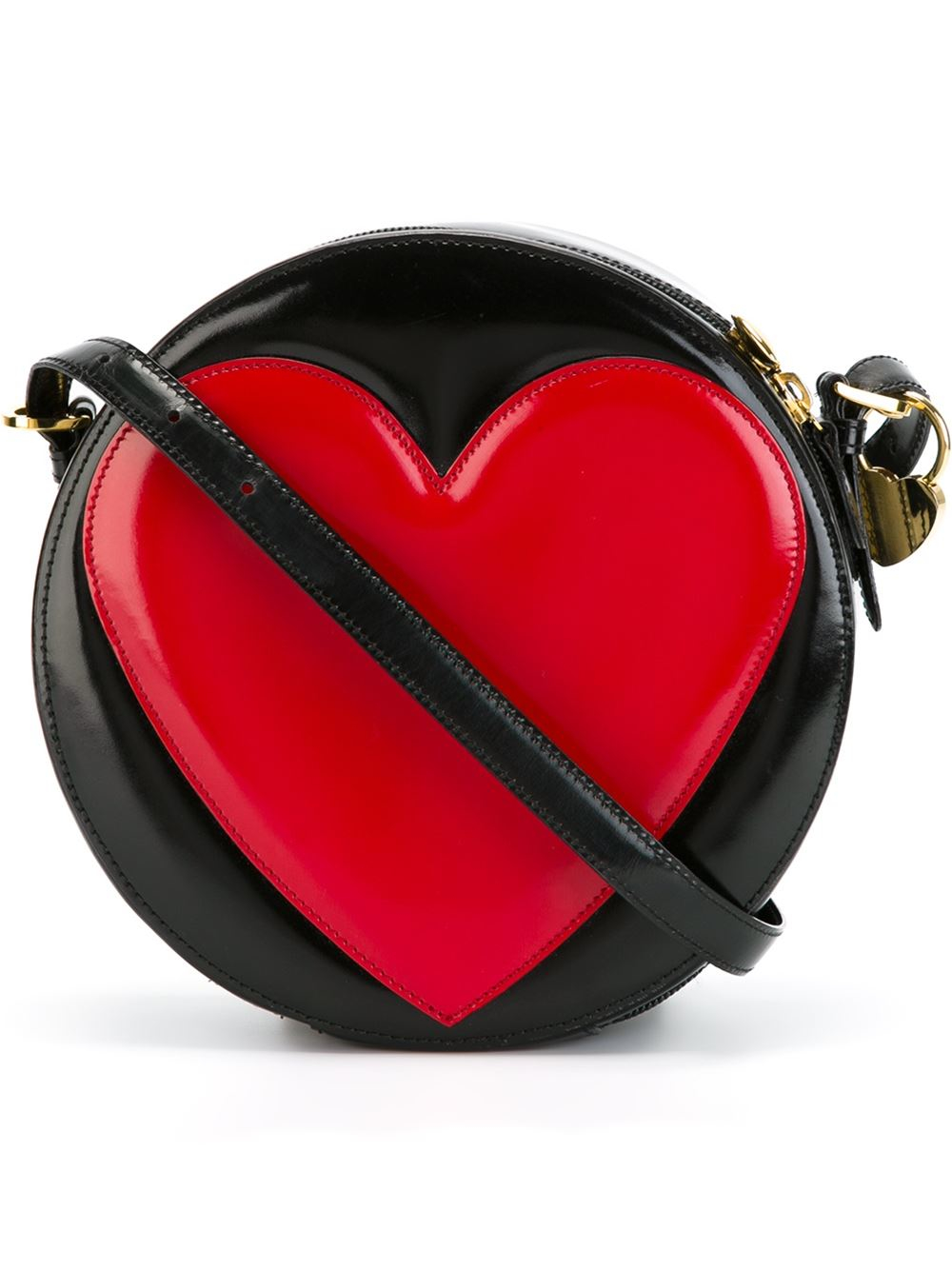 Lyst Moschino Heart Crossbody Bag In Black