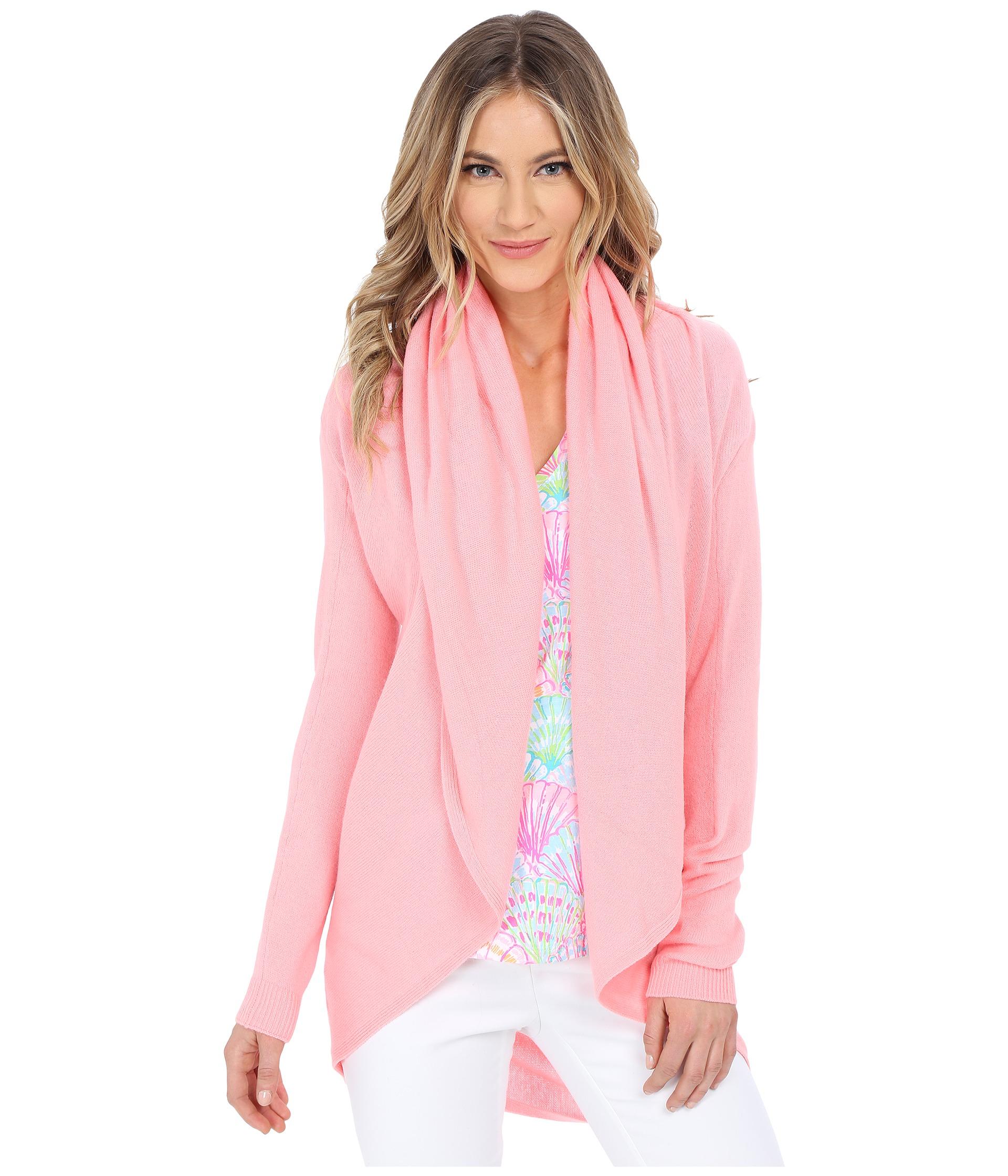 Lilly pulitzer Hayden Cashmere Cardigan in Pink | Lyst