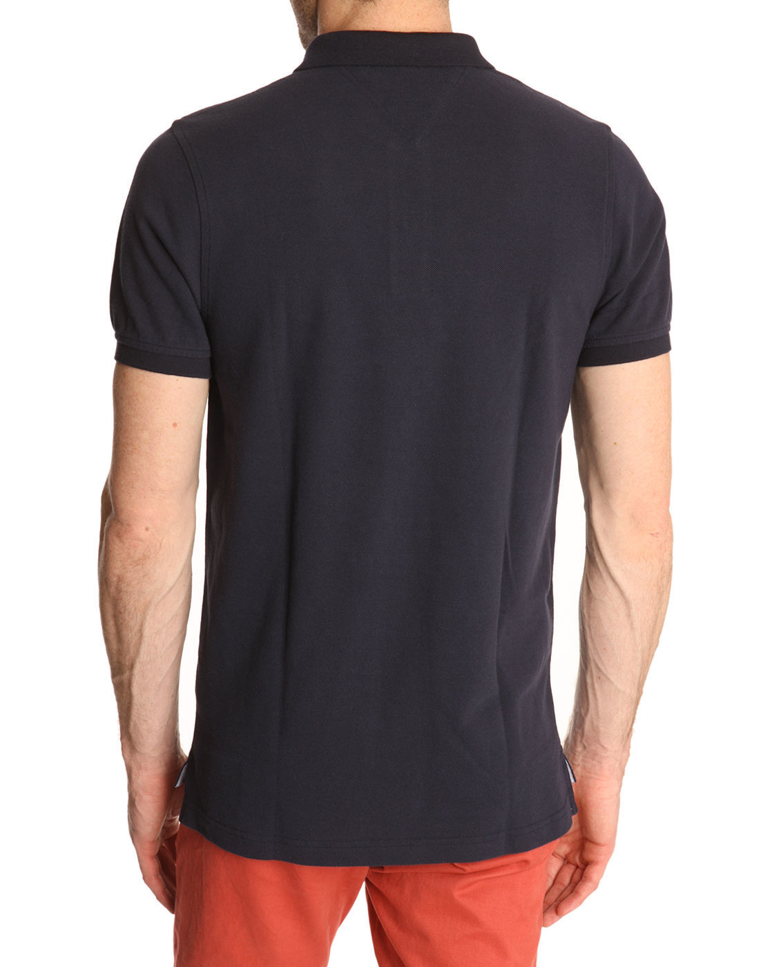 tommy hilfiger slim fit navy polo shirt contrasting collar in blue for. Black Bedroom Furniture Sets. Home Design Ideas
