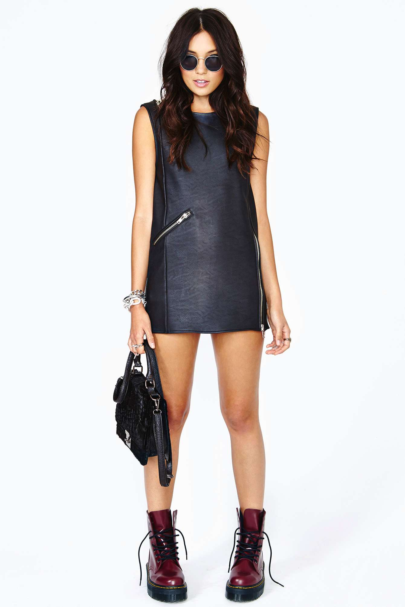 Nasty Gal Unif Disobey Moto Dress In Black Lyst