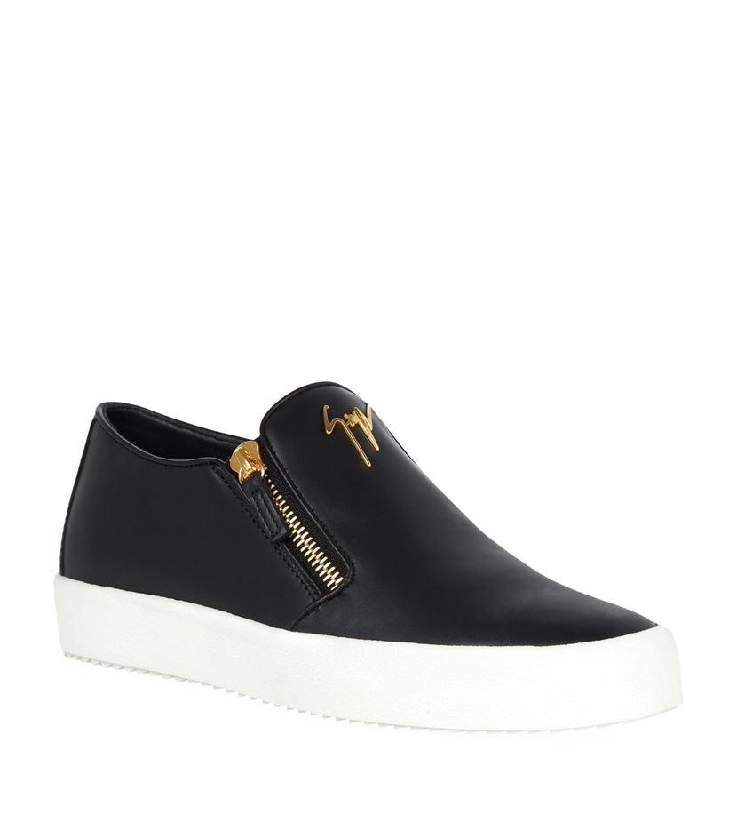 Giuseppe Zanotti Logo Zip Skate Shoe In White For Men