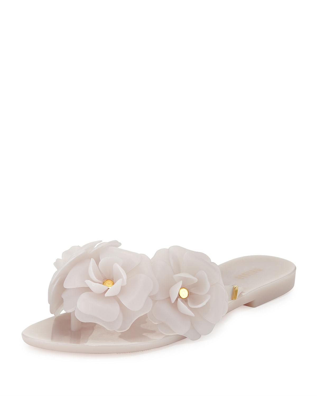 cc9155c230f7 Lyst - Melissa Harmonic Garden Flowerembellished Thong Sandals White