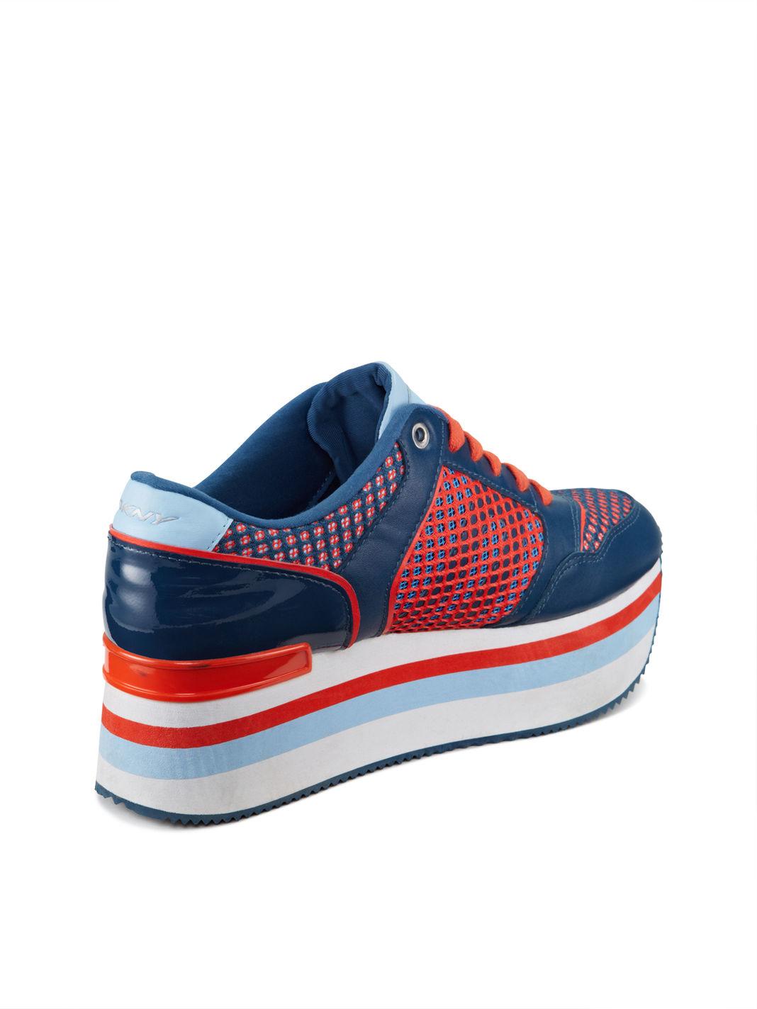 b006e41873b Lyst - DKNY Jill Platform Sneaker in Blue