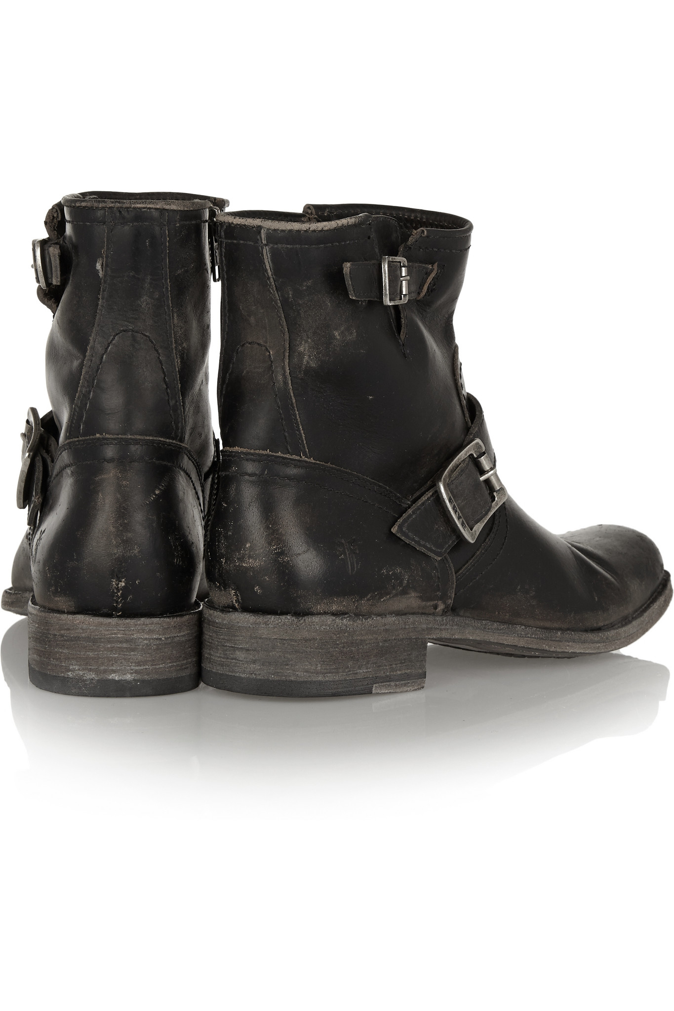 Frye Smith Leather Boots in Black