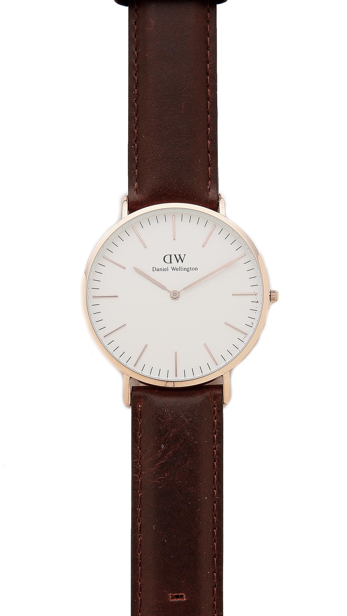 daniel wellington bristol watch with 40mm white dial. Black Bedroom Furniture Sets. Home Design Ideas