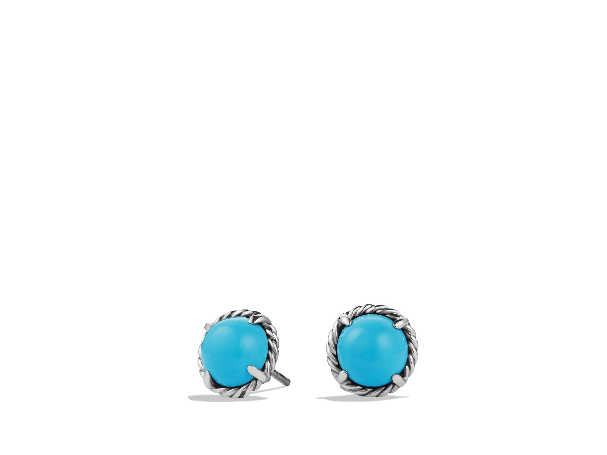 Lyst David Yurman Chatelaine Earrings With Turquoise In Blue