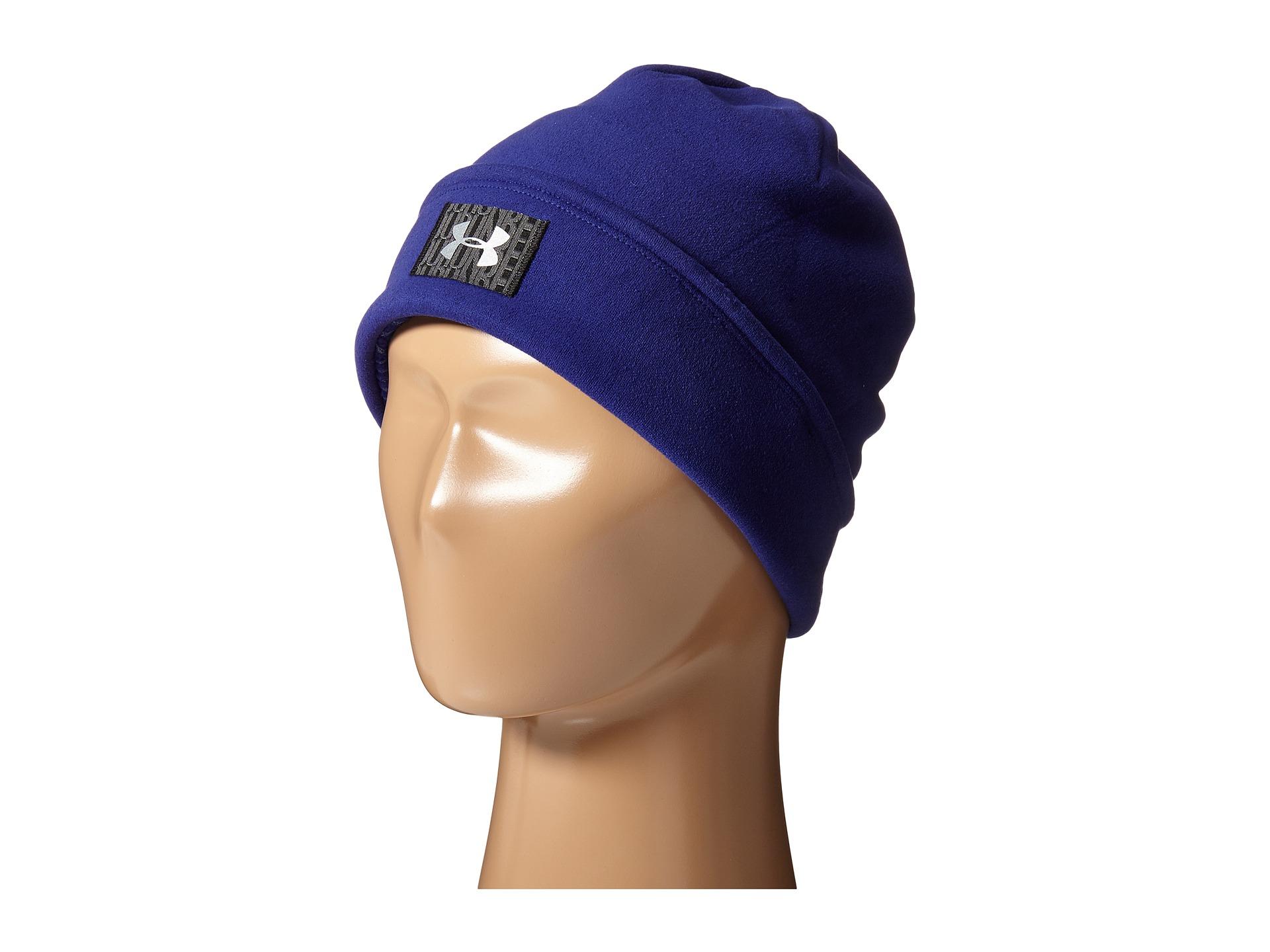 93688bb8aad Lyst - Under Armour Ua Storm® Coldgear® Infrared Fleece Beanie in Blue