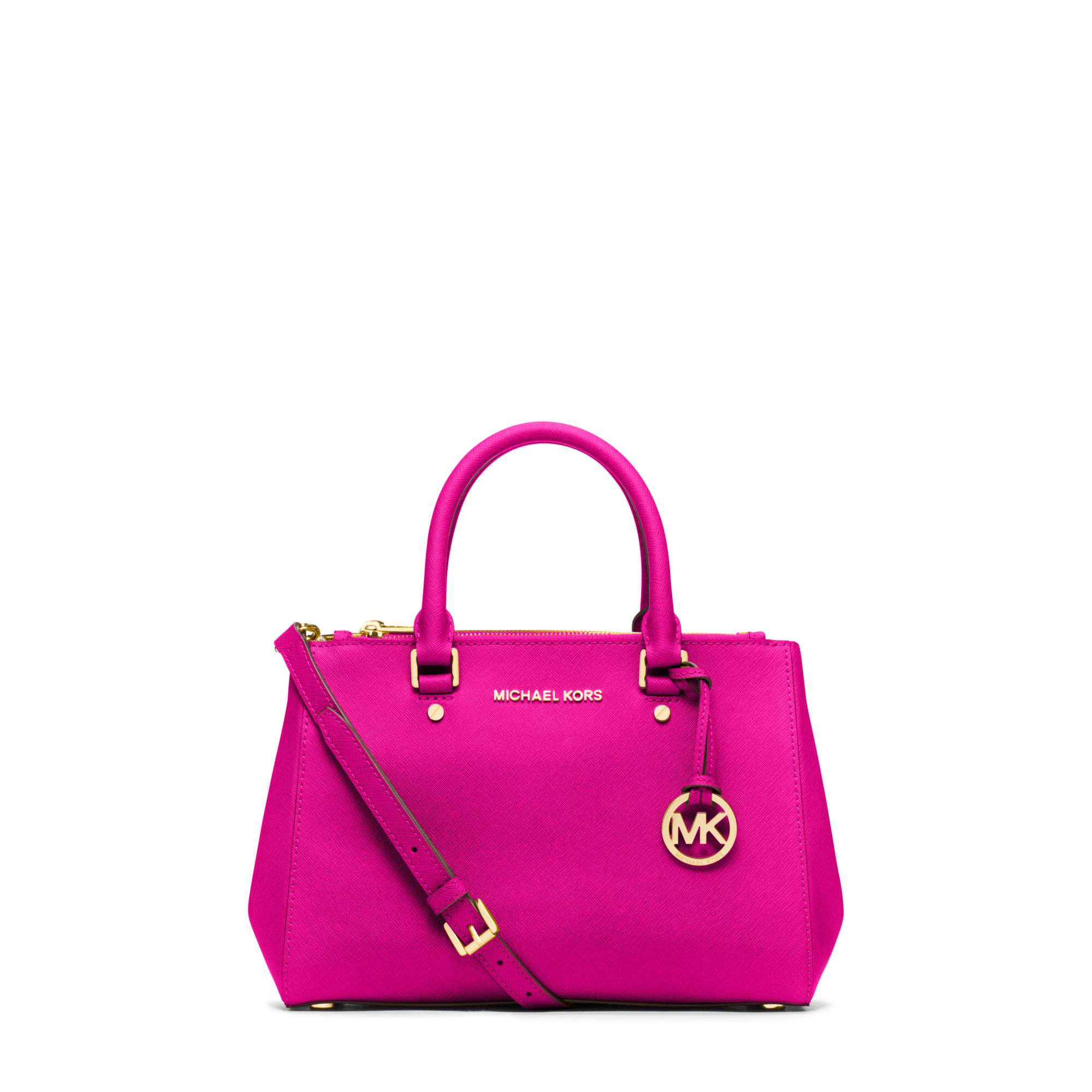 michael kors sutton small saffiano leather satchel in pink. Black Bedroom Furniture Sets. Home Design Ideas