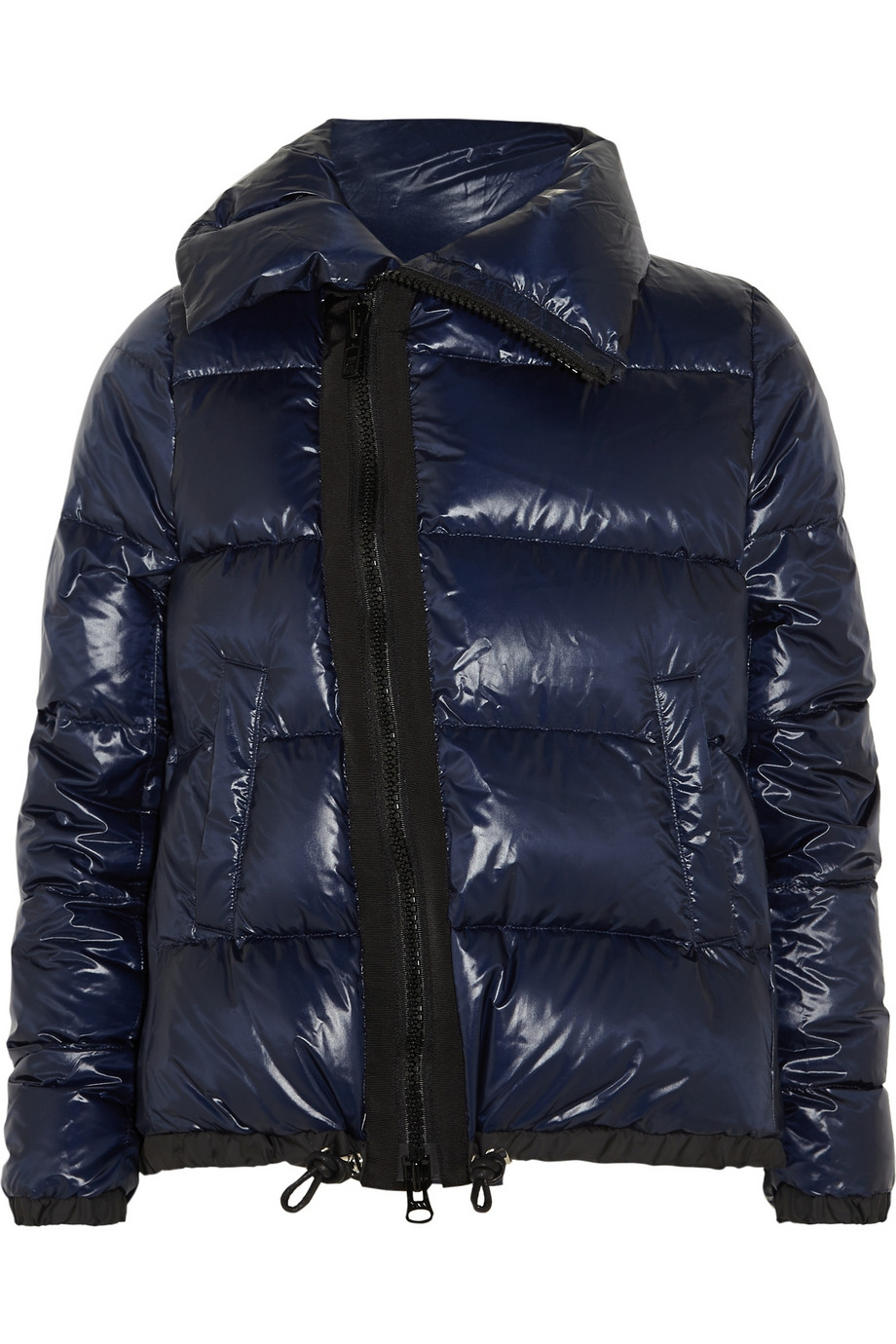 Sacai Luck Padded Shell Down Coat in Blue | Lyst