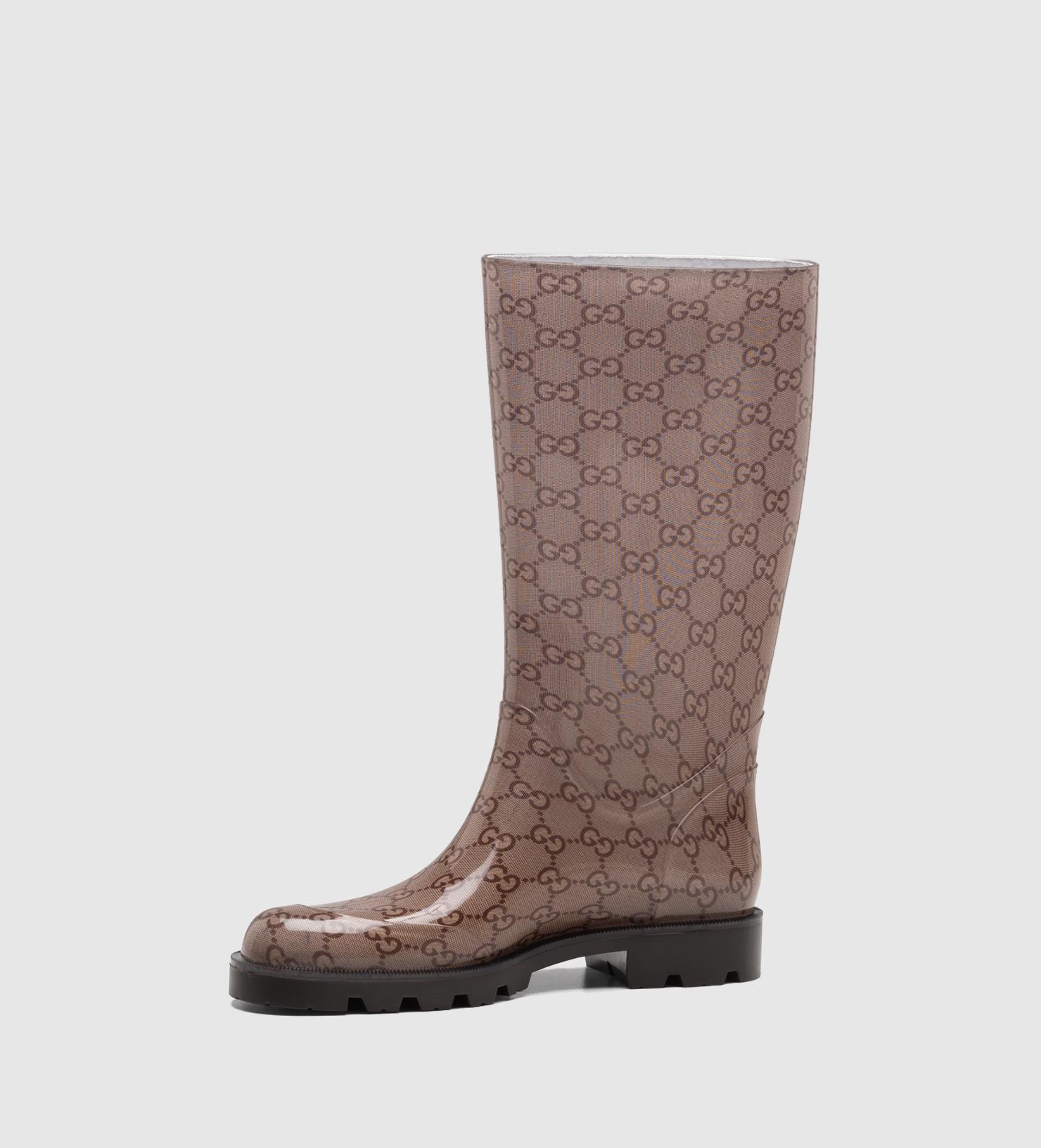 gucci edimburg gg flat boot in lyst