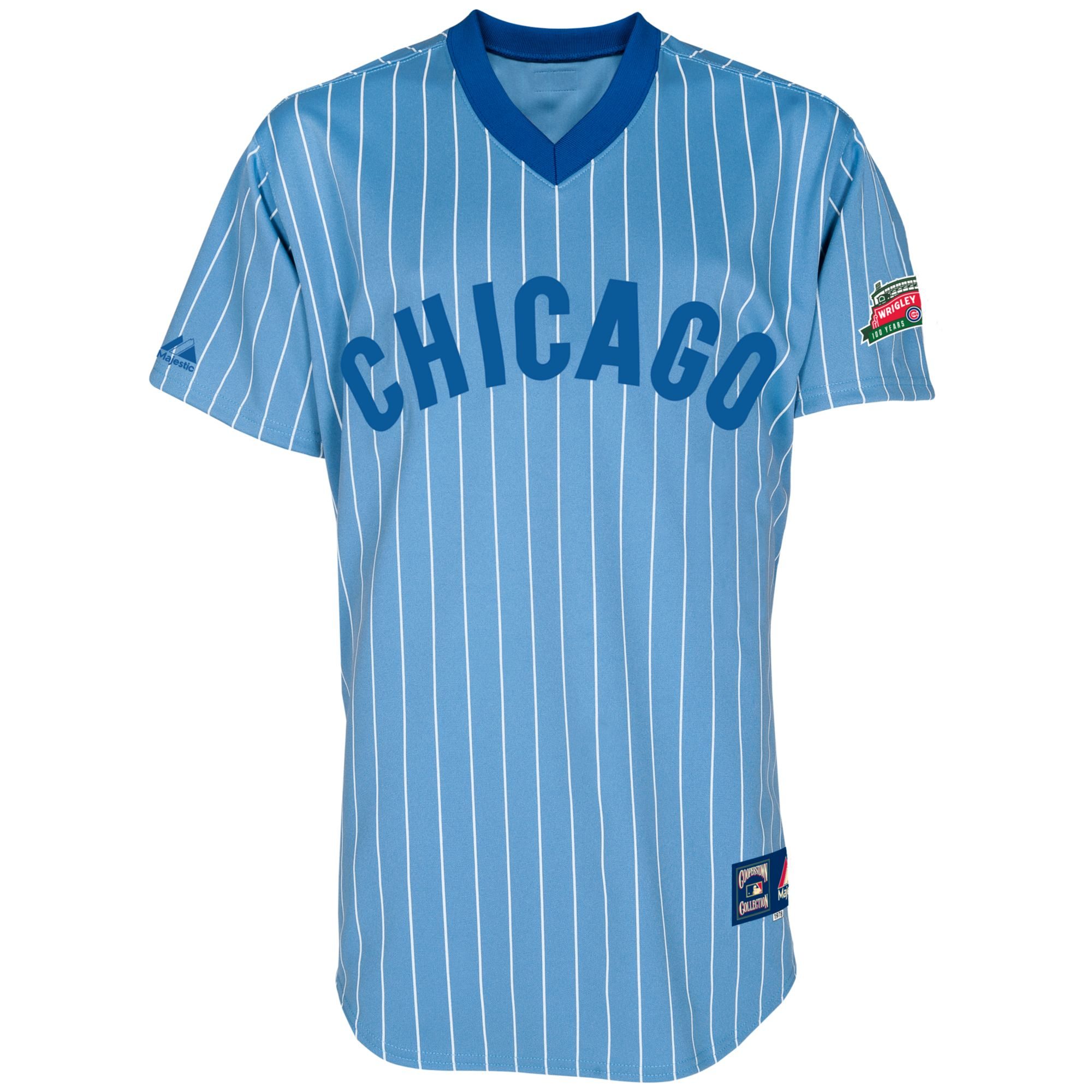Majestic Chicago Cubs Replica Throw Back Jersey In Blue
