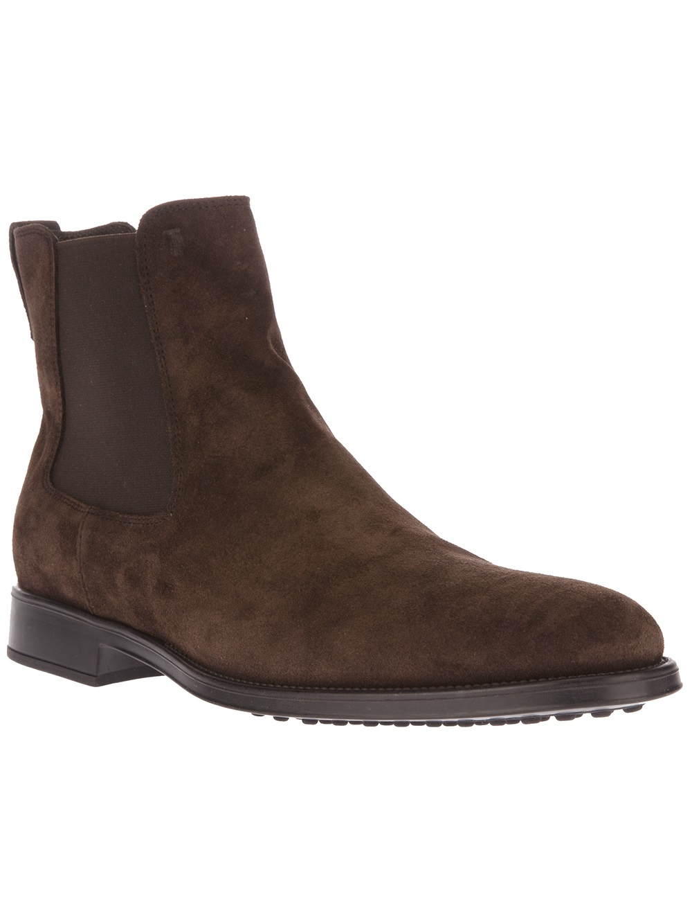 tod s chelsea boot in brown for lyst