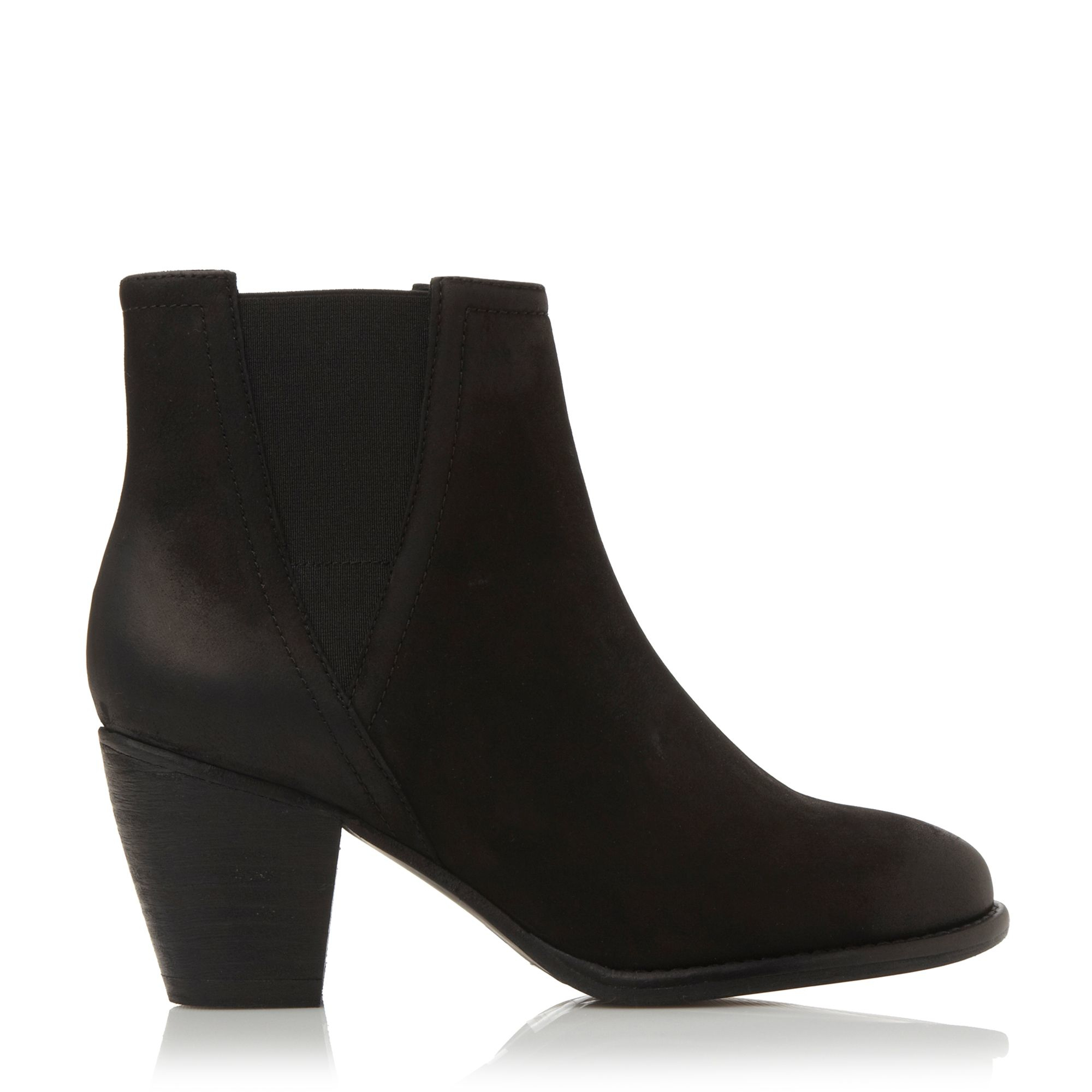 steve madden shearly heeled chelsea boots in black black