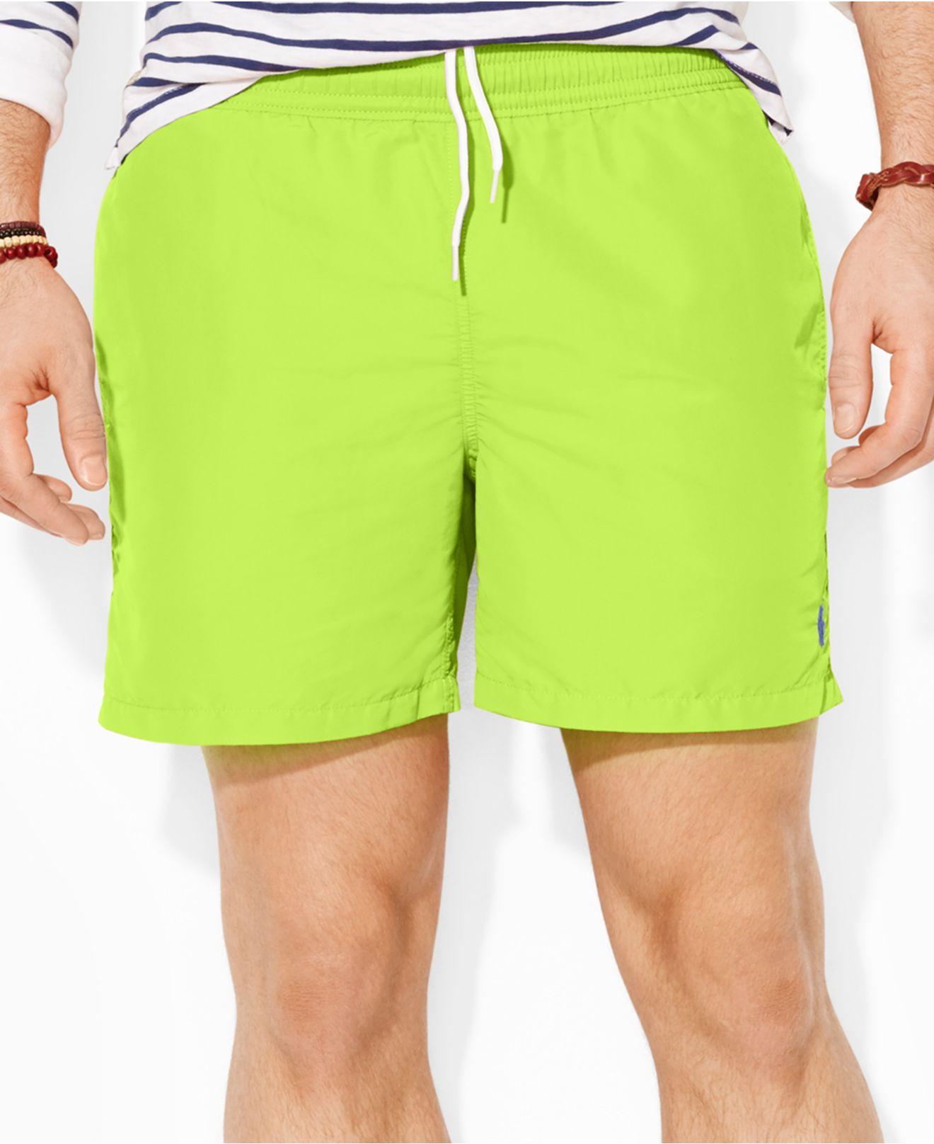fe99f53930 Lyst - Polo Ralph Lauren Big And Tall Hawaiian Swim Shorts in Green ...