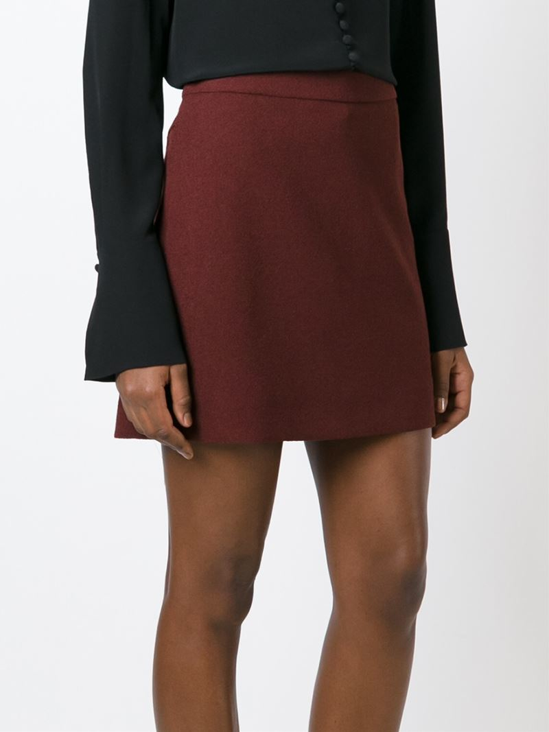 chlo 233 classic a line skirt in lyst