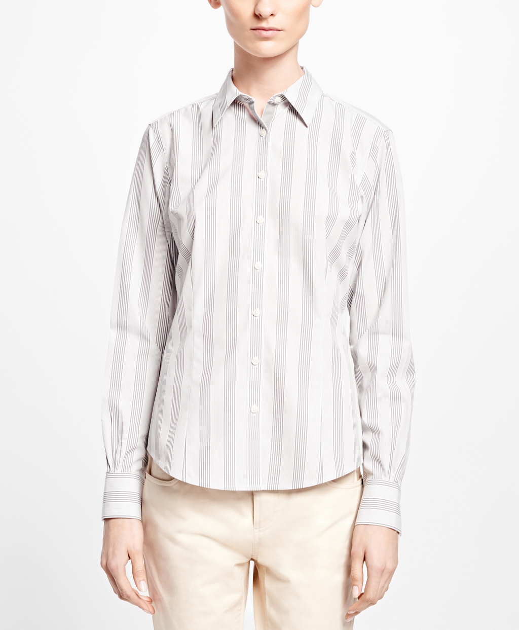 Lyst brooks brothers non iron fitted stripe dress shirt for Brooks brothers non iron shirts review