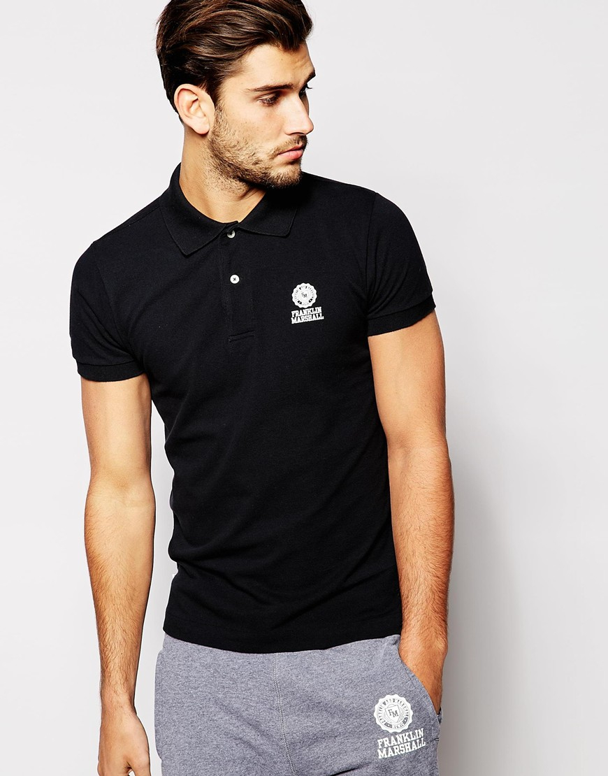 Lyst Franklin Marshall Classic Pique Polo Shirt In