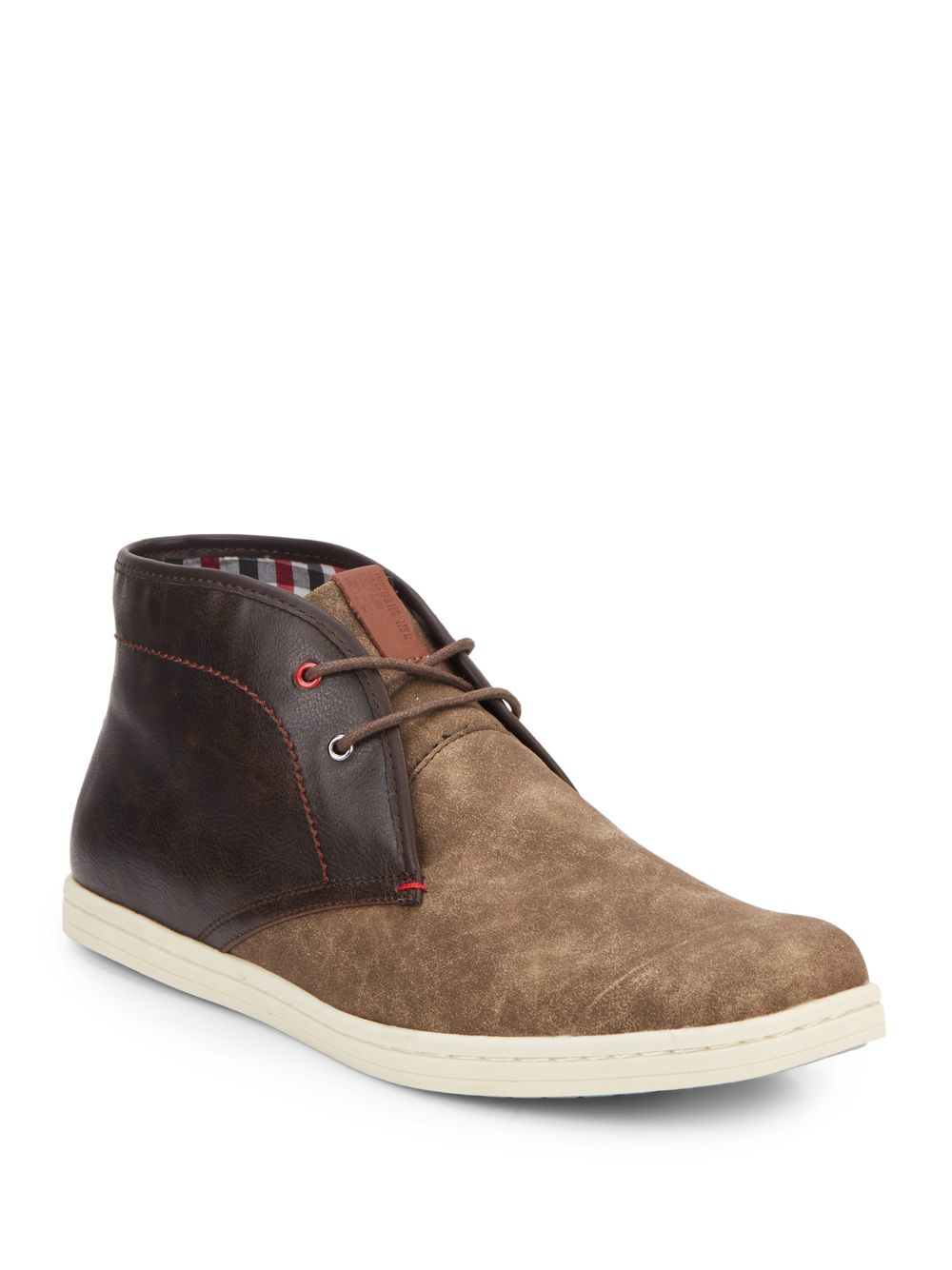 Lyst Ben Sherman Victor Two Tone Leather Chukka Boots In