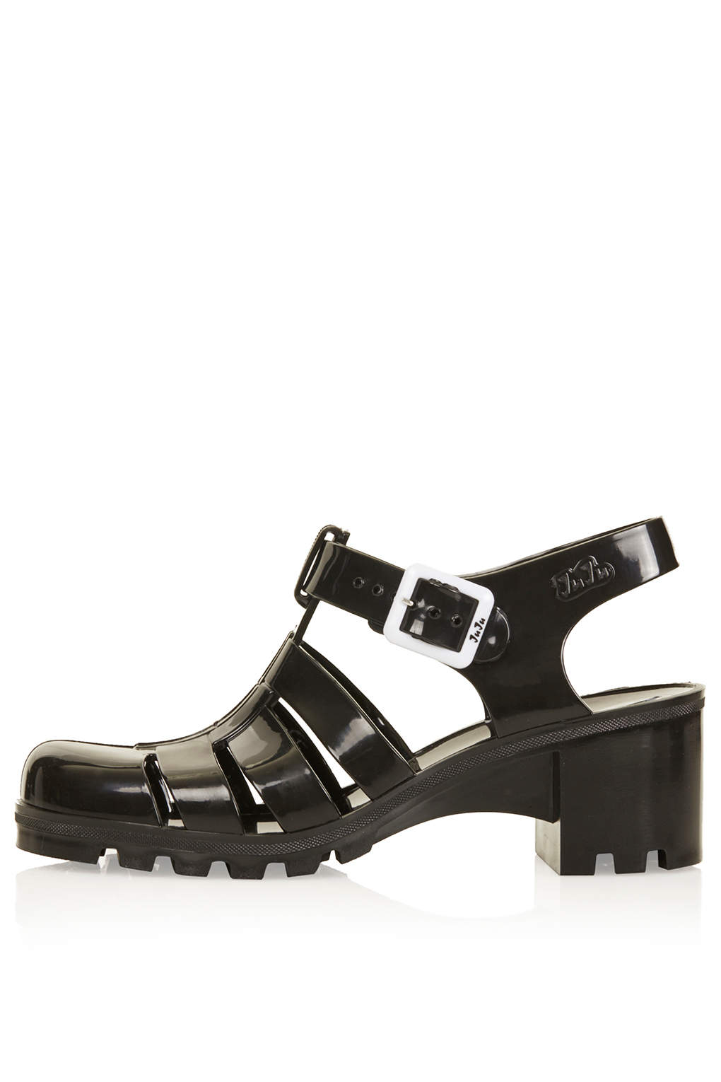 Black jelly sandals topshop