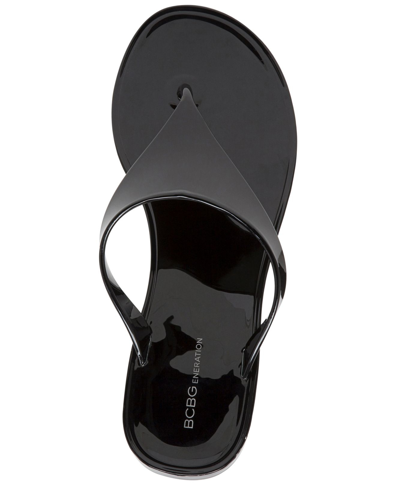 aa062d4d9ce5 Lyst - BCBGeneration Starr Flat Thong Sandals in Black