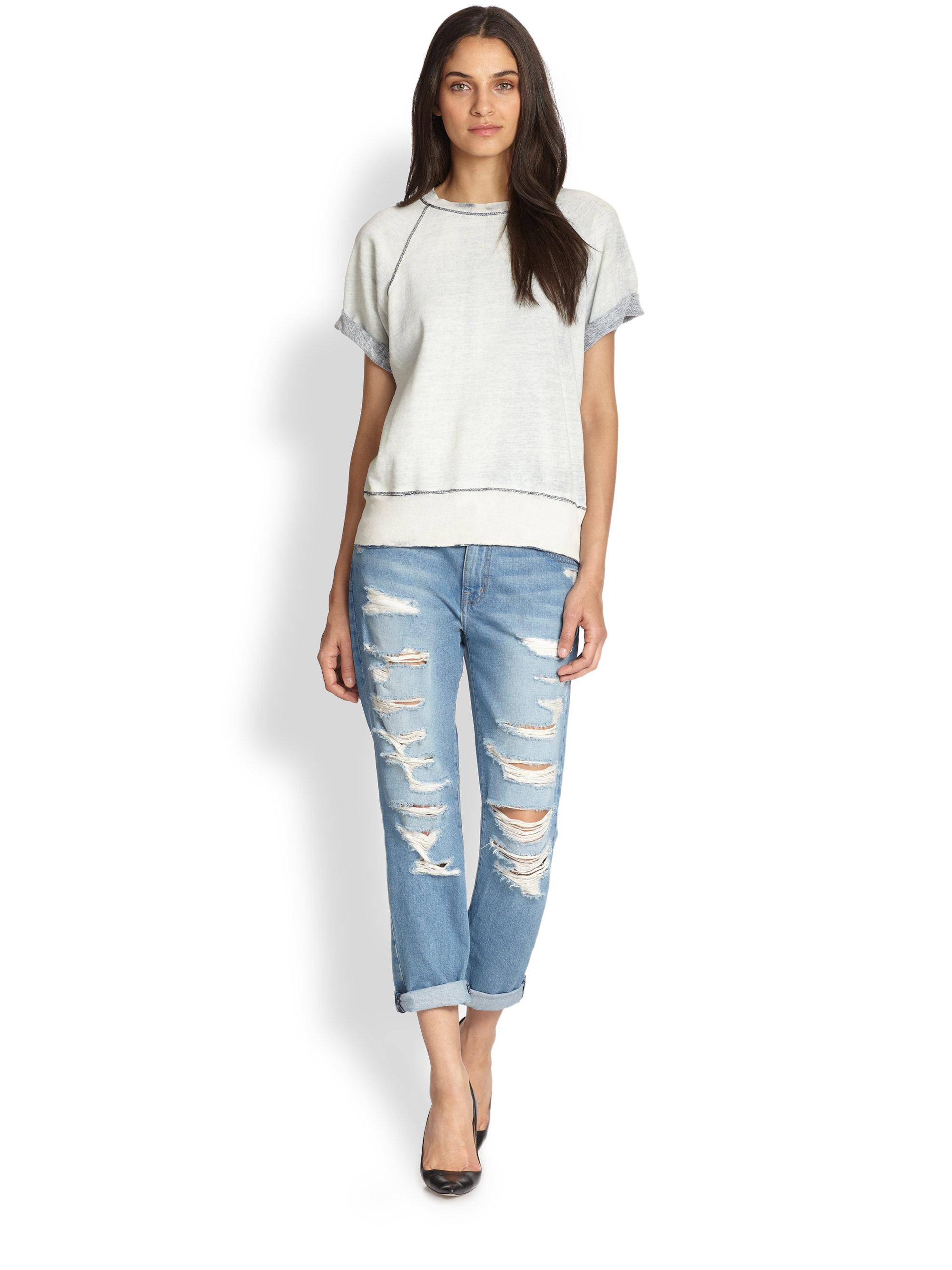 New Autumn Fashion Women39s Stretch Jeans Torn Boyfriends Slim Solid Women