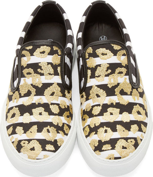 of pearl black white leopard achilles sneakers in