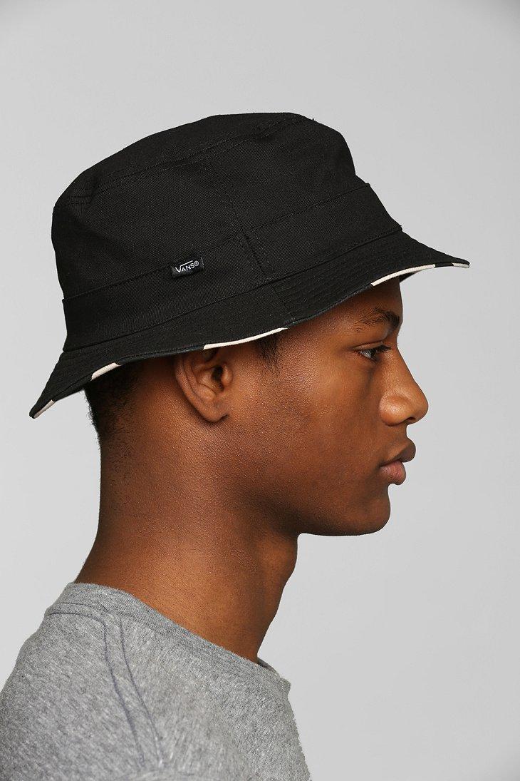 6741004c2ed03 Vans Checker Reversible Bucket Hat in Black for Men - Lyst