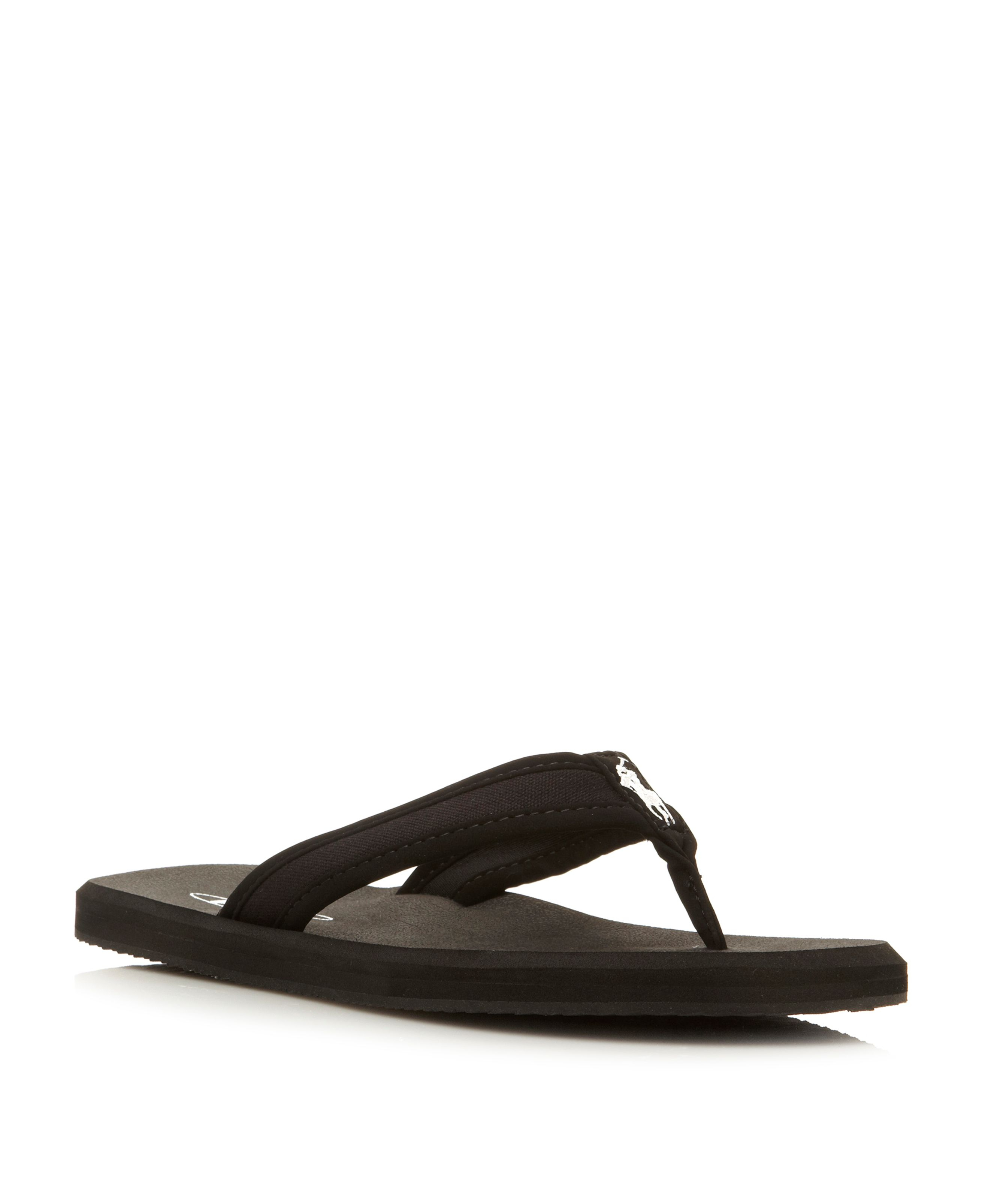 60f78ae2a7c71 ... coupon for lyst polo ralph lauren almer ii canvas toe post sandals in  blue b766a fc2e3