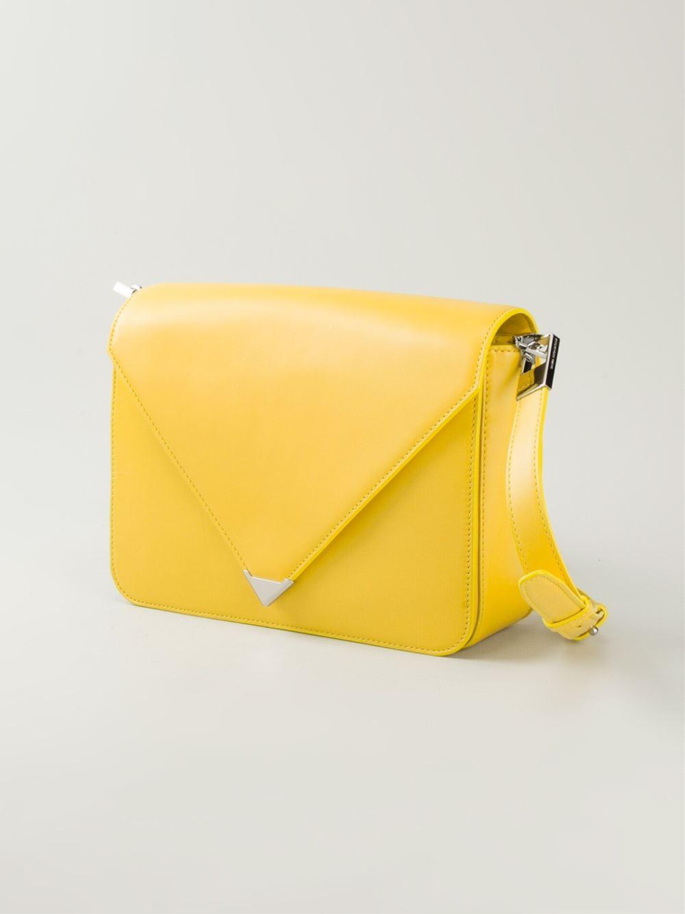Alexander Wang Prisma Leather Cross-body Bag in Yellow & Orange (Yellow)