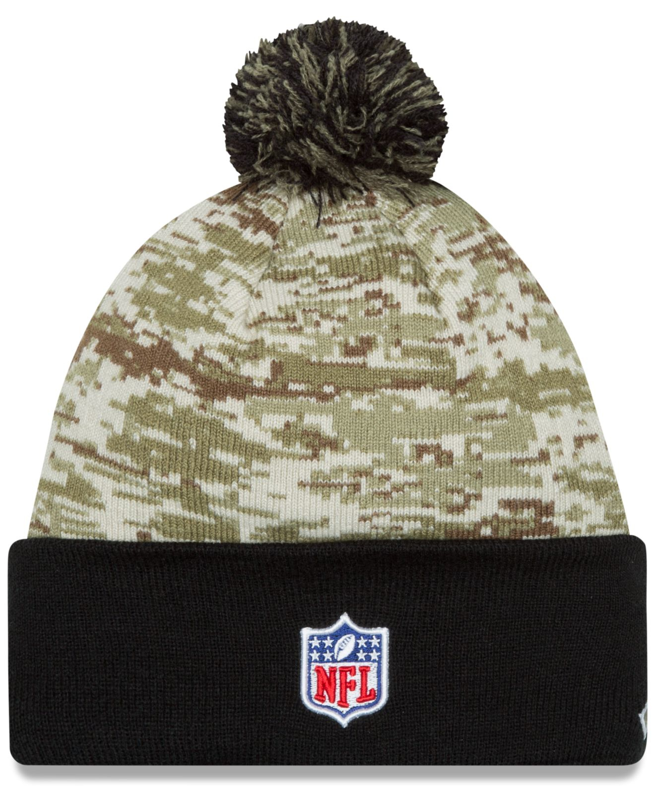 Lyst - KTZ Oakland Raiders Salute To Service Knit Hat in Green for Men fc0adb452