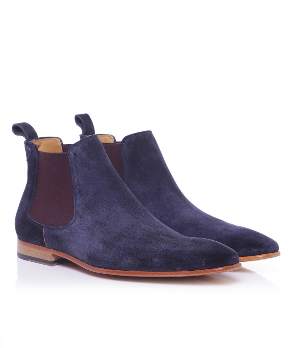 Lyst Paul Smith Suede Falconer Chelsea Boots In Blue For Men