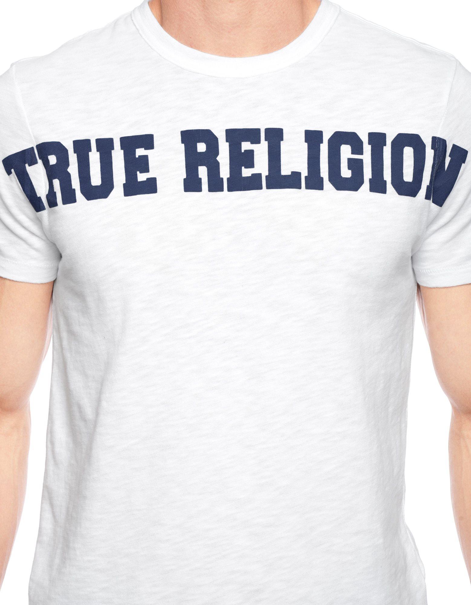 True religion European Logo Mens T-Shirt in White for Men ...