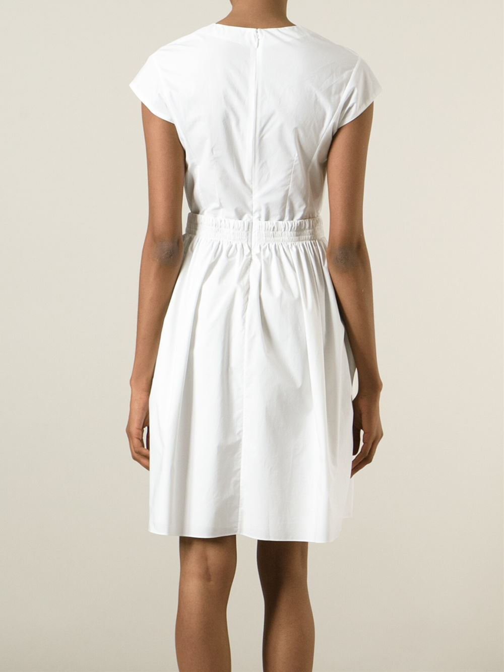 Carven embroidered dress in white lyst