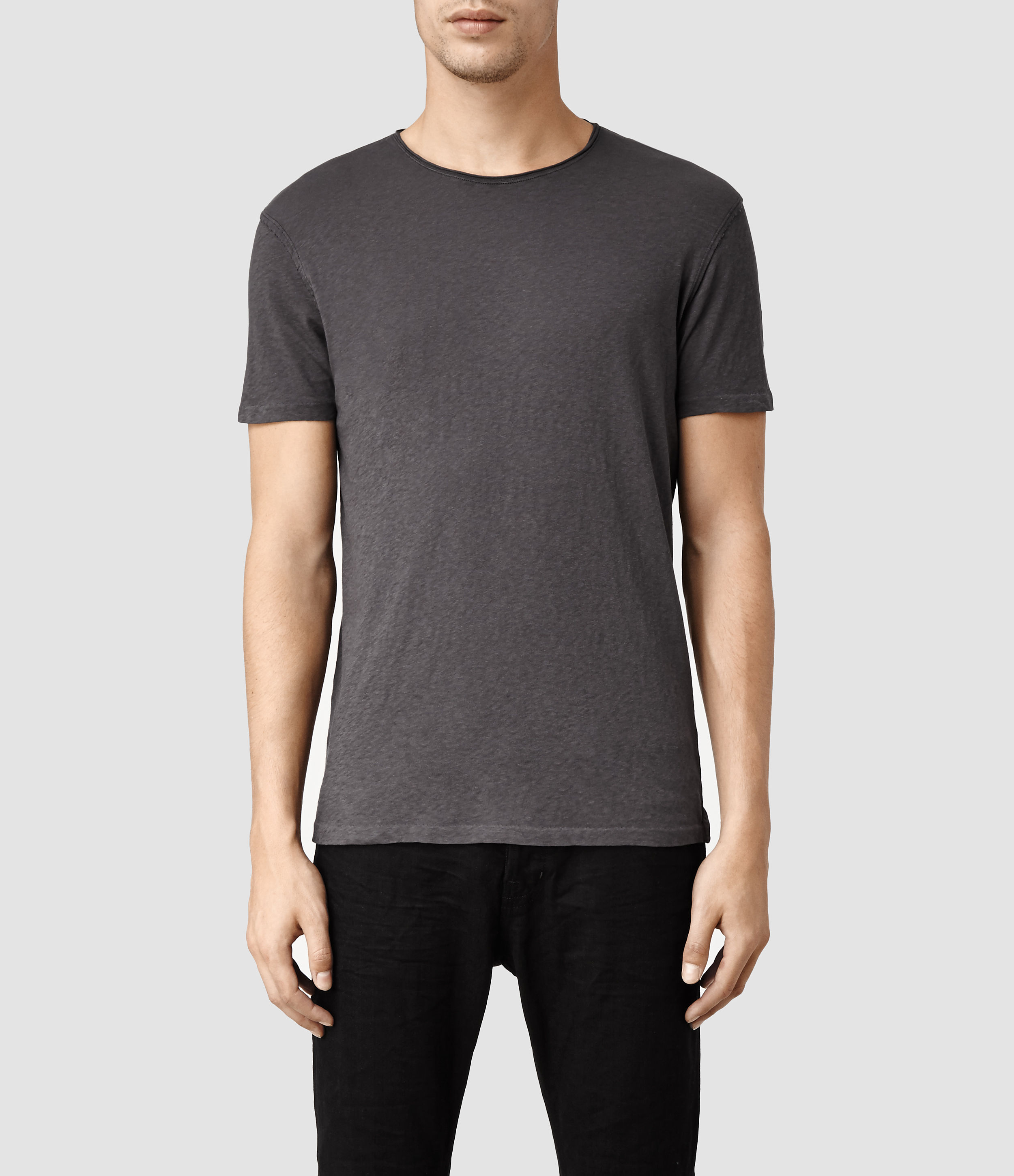 84ae27b807 AllSaints Figure Crew T-shirt in Black for Men - Lyst