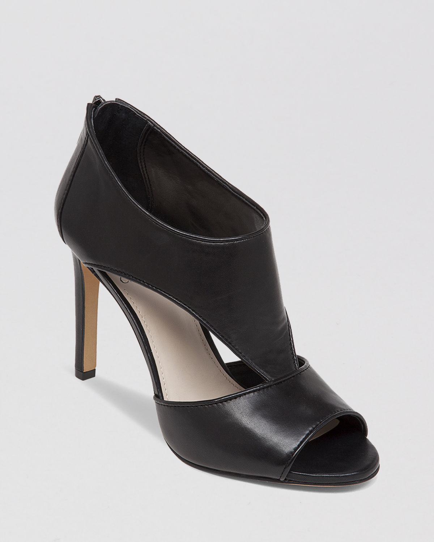 Vince Camuto Open Toe Booties Seenai High Heel In Black