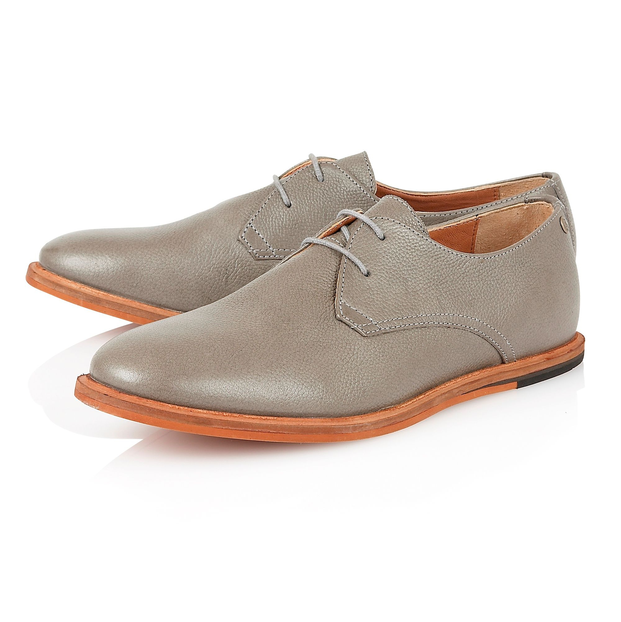 frank wright sheen lace up casual oxford shoes in gray for