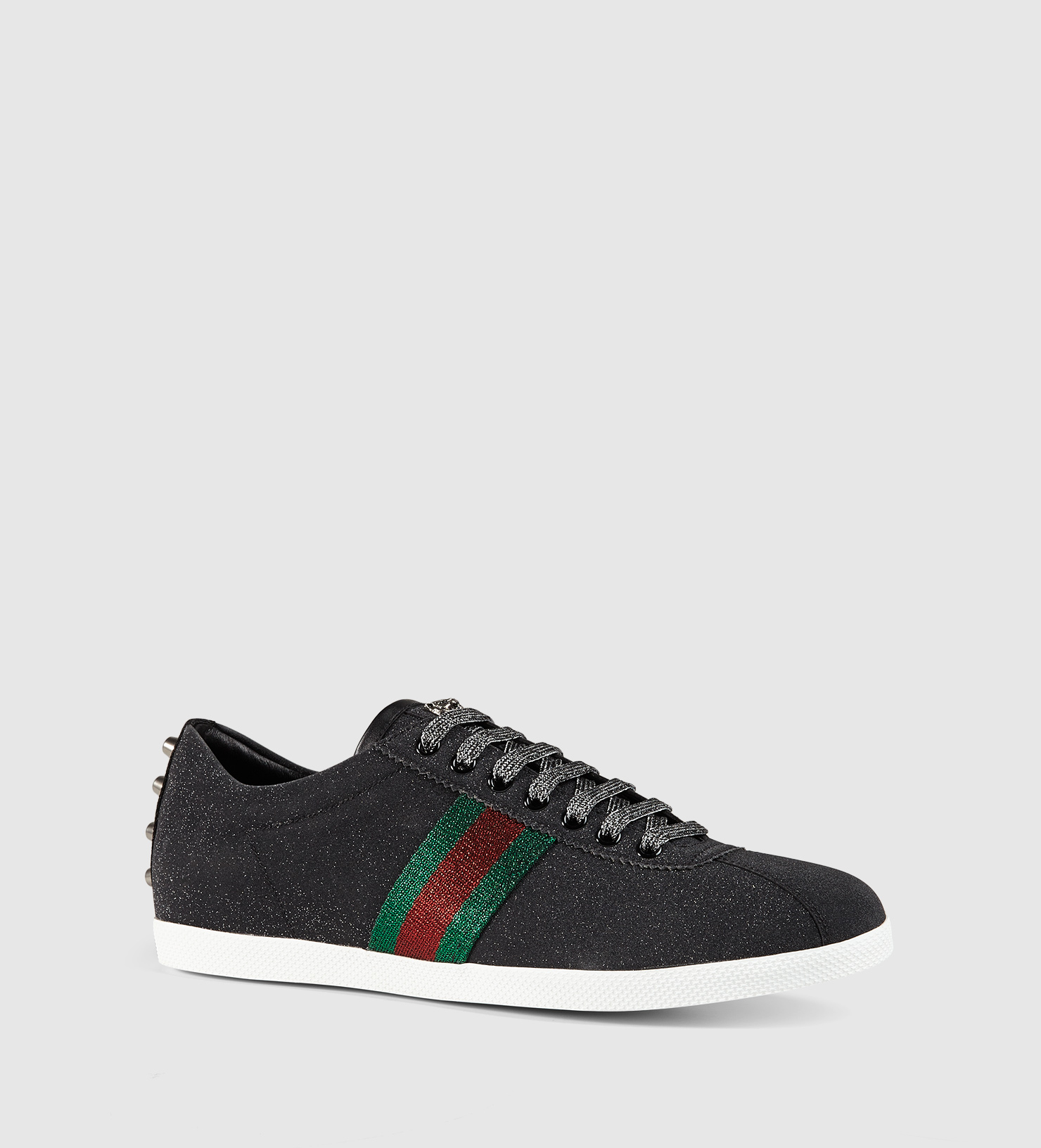 5a6a8543b9ca Lyst - Gucci Glitter Web Sneaker in Black for Men