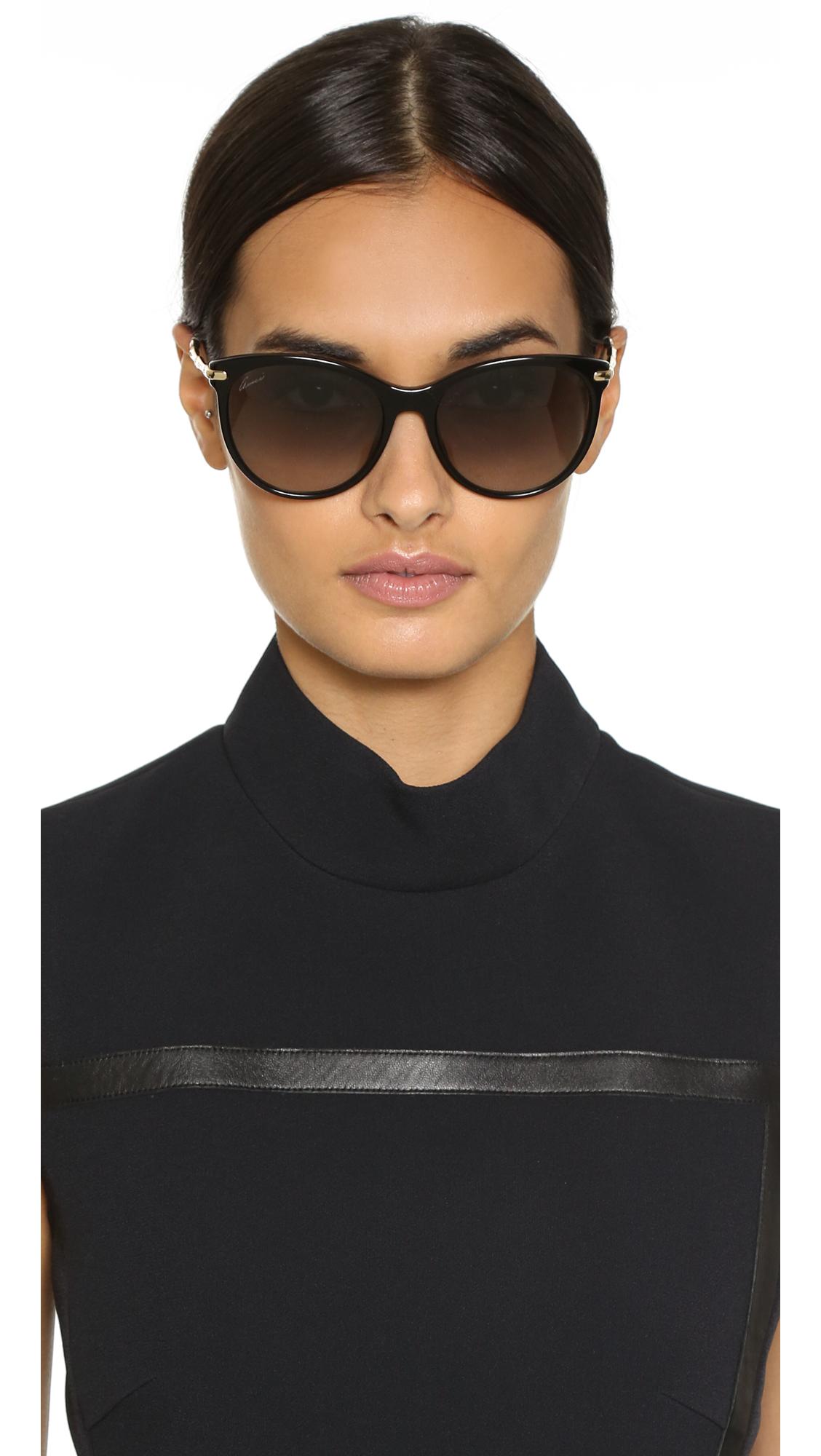 56c8ed7b613 Lyst - Gucci Bamboo Temple Sunglasses in Black