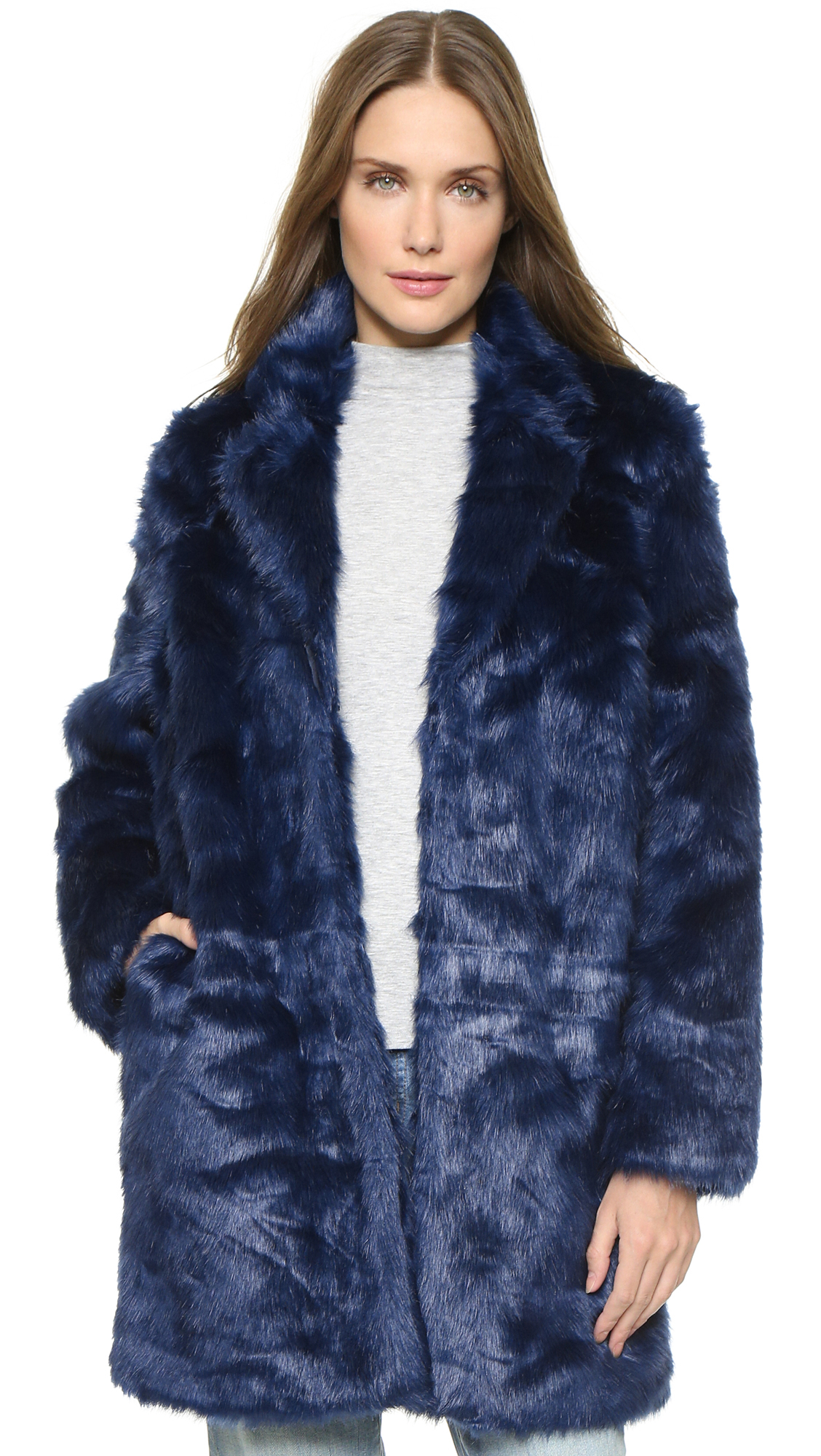 Won hundred Marian Faux Fur Coat - Medieval Blue in Blue | Lyst