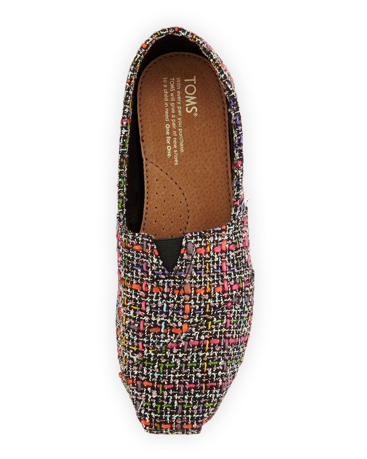 Toms Boucle Alpargata Slip-Ons in Black : Lyst