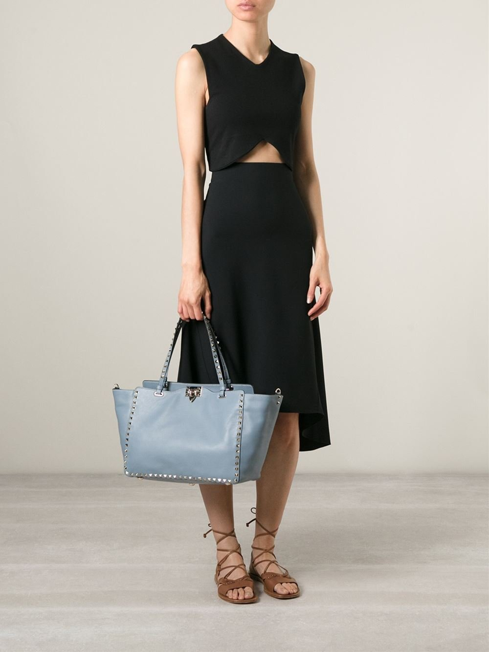 Valentino Garavani Rockstud trapeze tote - Black Valentino Fake For Sale For Sale The Cheapest Visit New Sale Online Clearance Clearance Affordable Online ETbB5TP