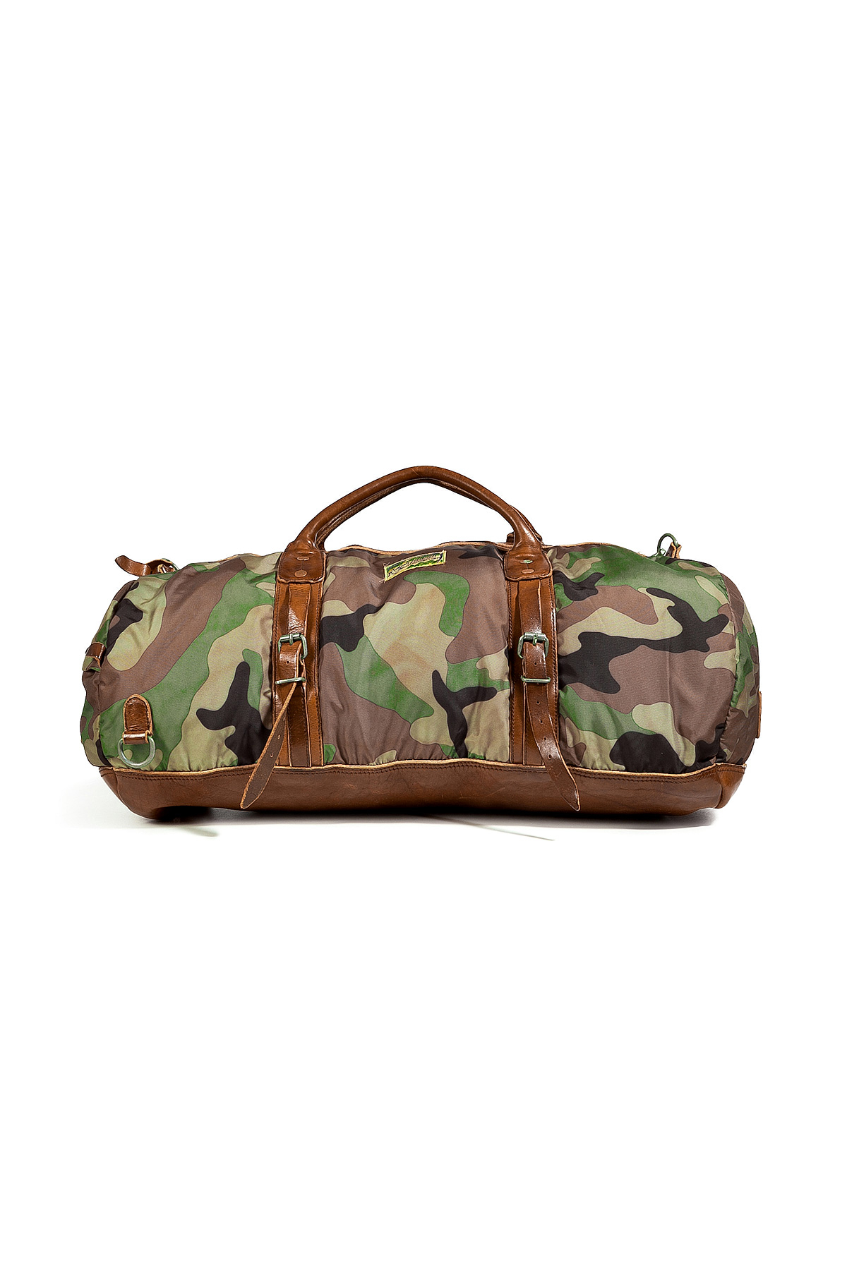 Lyst - Polo Ralph Lauren Camo Print Duffle Bag With Leather Trim in ... 5e0e6946911c4