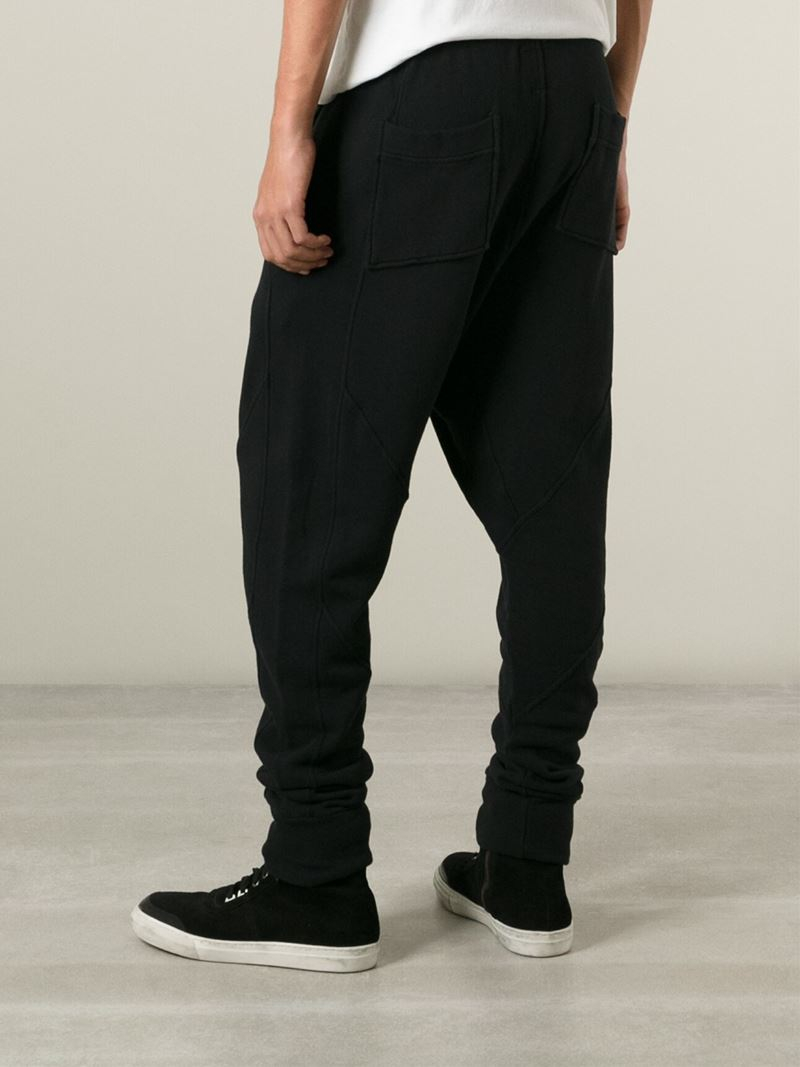 drop crotch track pants - Black Thom Krom Cheap Price Factory Outlet 2018 Unisex Cheap Price Purchase For Sale Excellent Cheap Price fBkU1